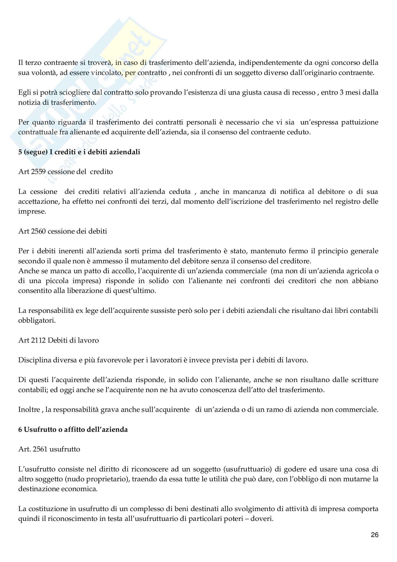 Riassunto esame Diritto Commerciale, prof. Vella, libro consigliato Diritto Commerciale, Campobasso Pag. 26