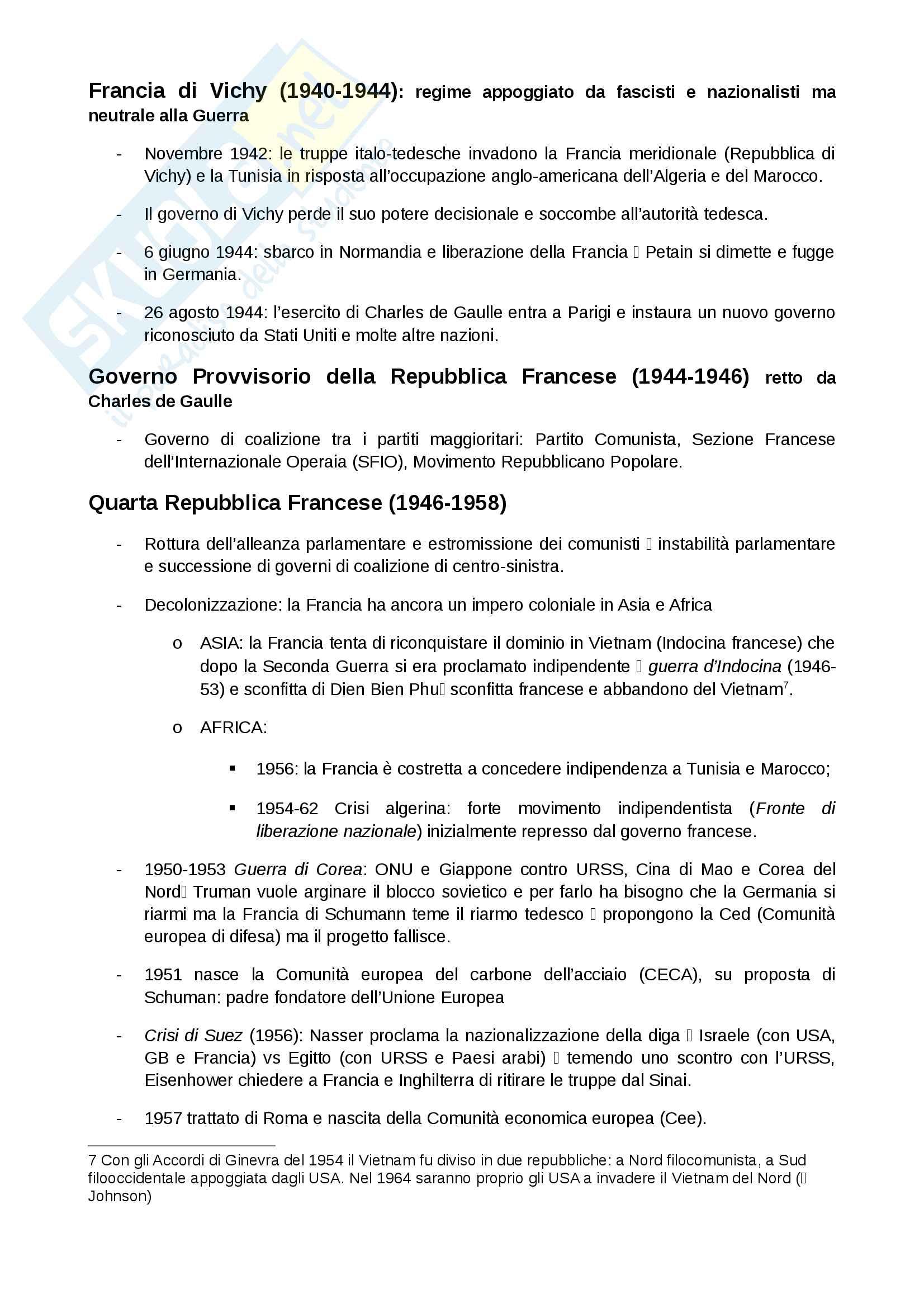 Dalla Prima alla Quinta Repubblica Francese Pag. 6