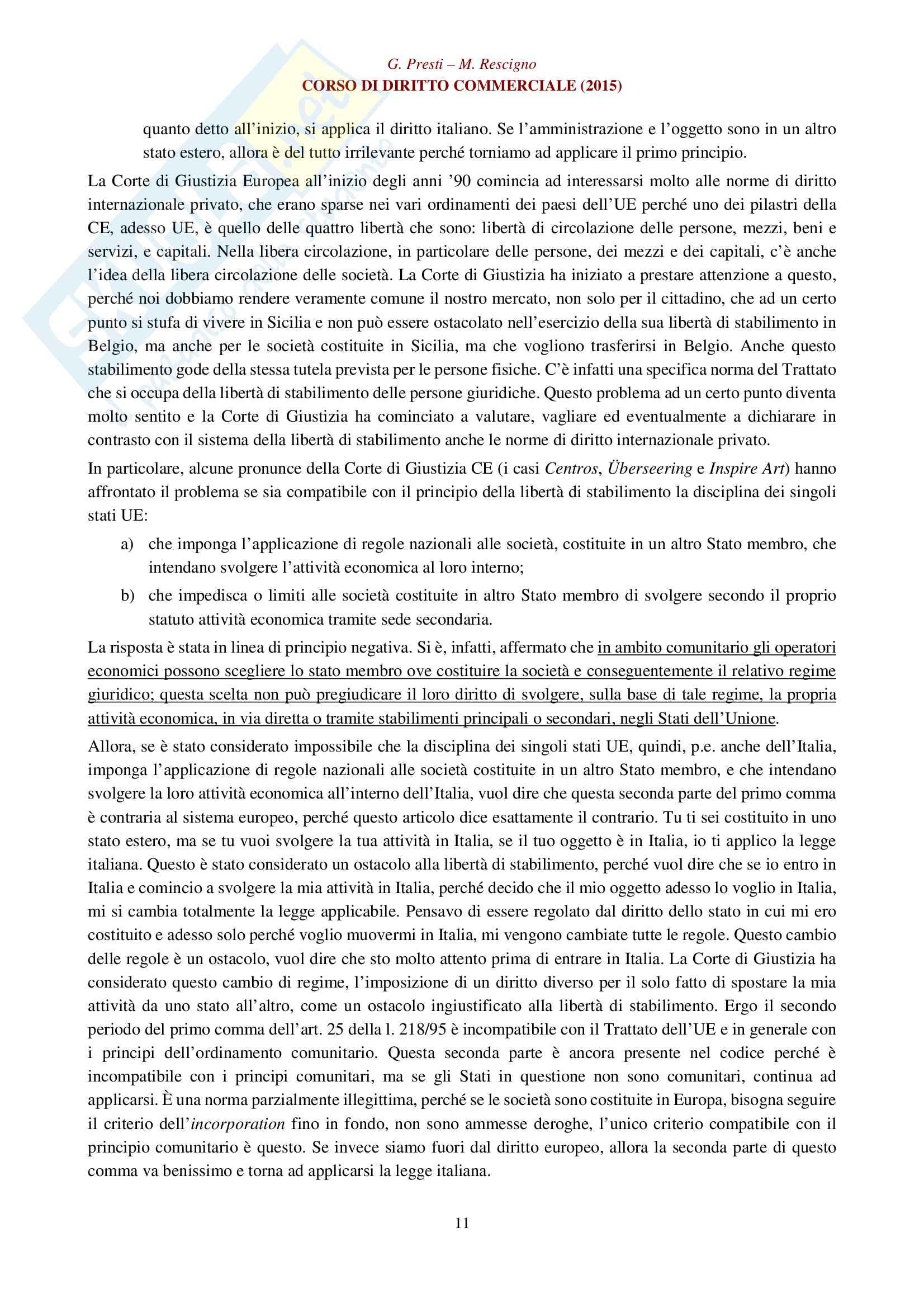 Appunti per esame di diritto commerciale: impresa, imprenditore e azienda Pag. 11