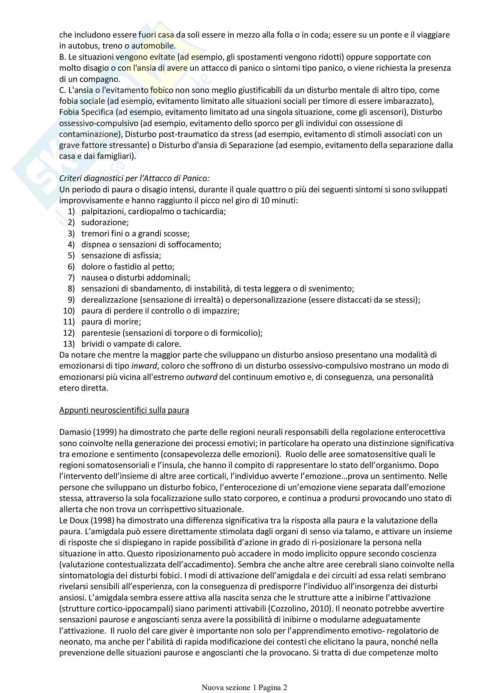 Casi clinici: Appunti di Psicoterapia cognitiva Pag. 2