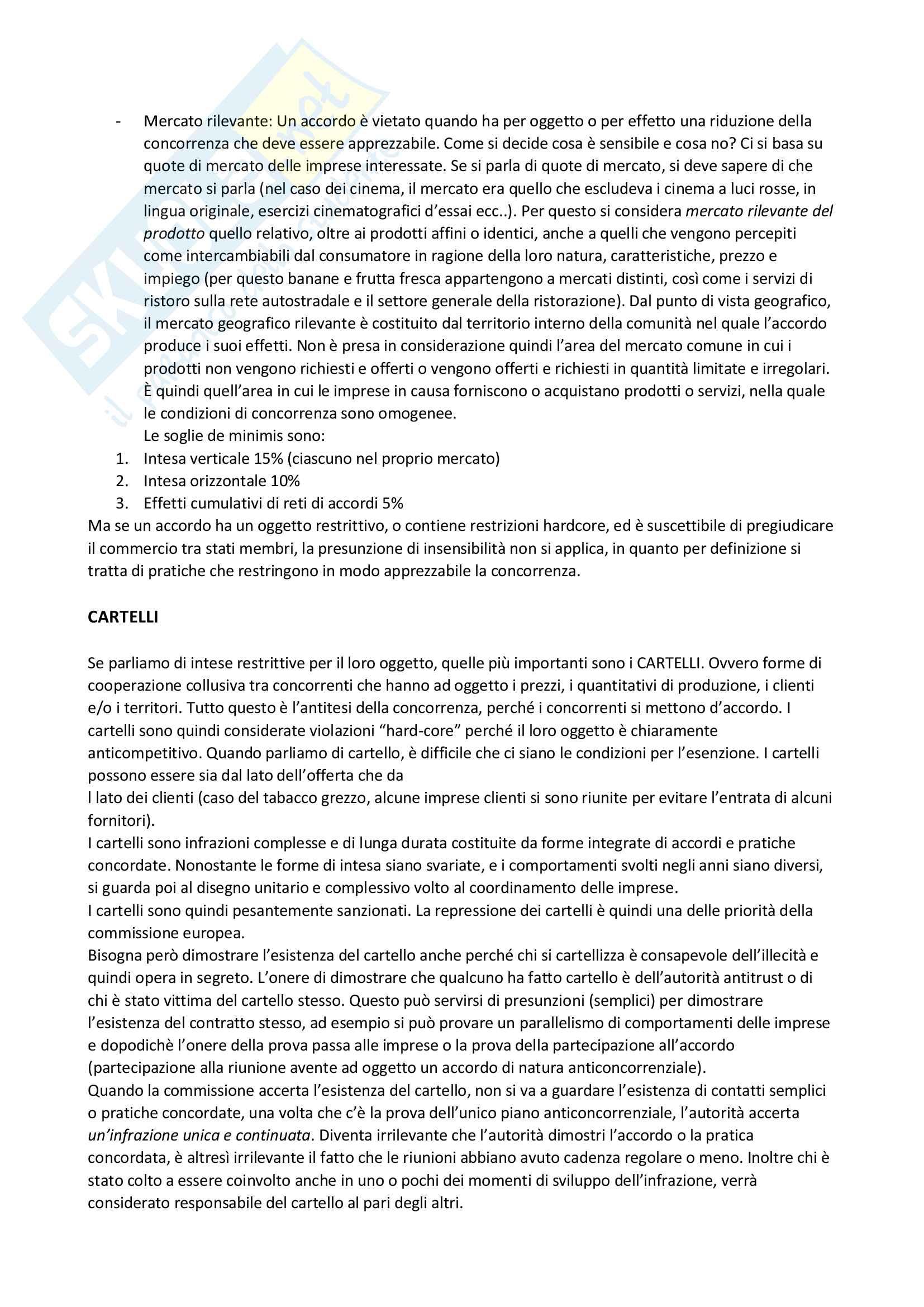 """Appunti di """"Mercato concorrenza e Regolamentazione"""", Professoressa Oglio, Integrati con slides; voto ottenuto: 30 Pag. 11"""