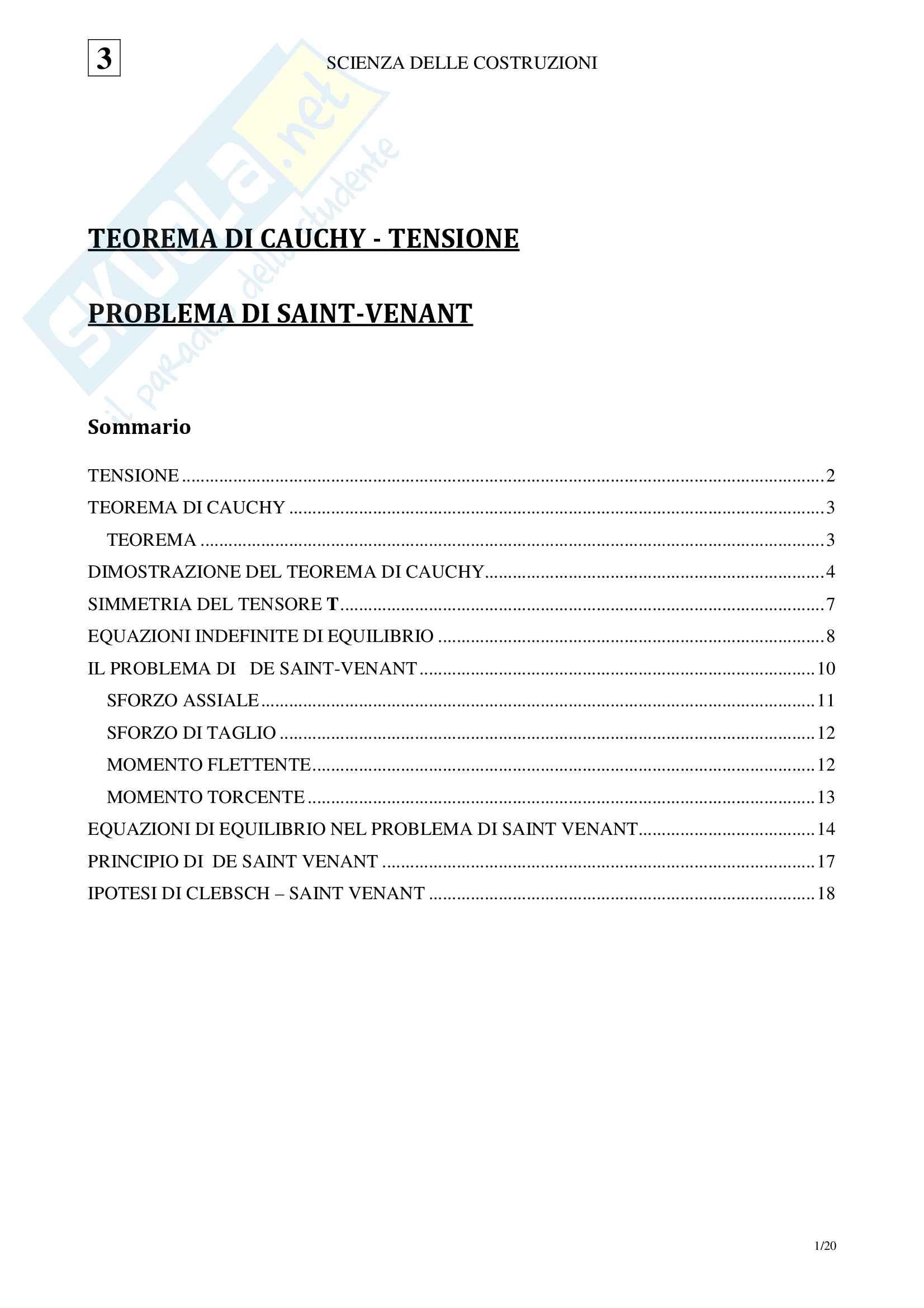 03 Scienza delle Costruzioni - Tensione Problema di Saint Venant