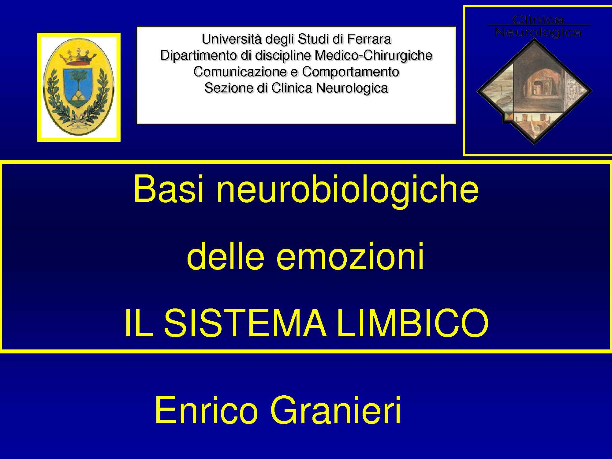 dispensa E. Granieri Neurologia