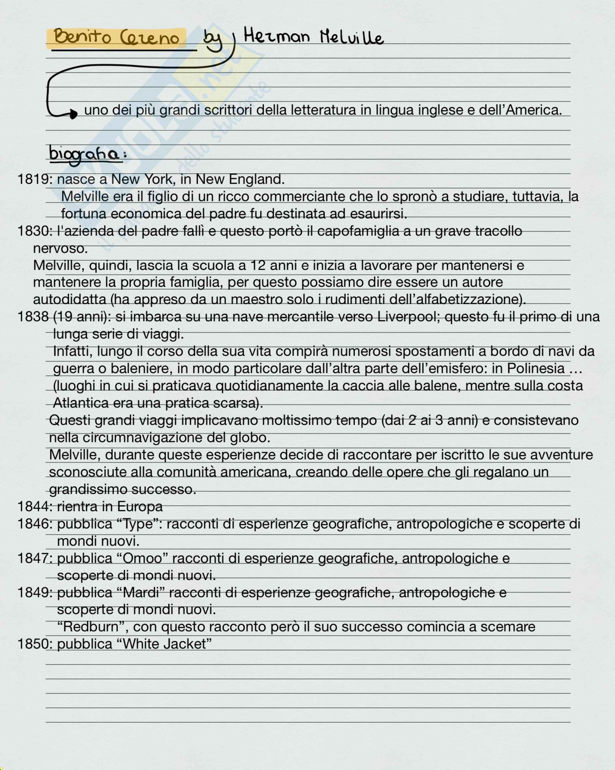 Benito Cereno - analisi + commento