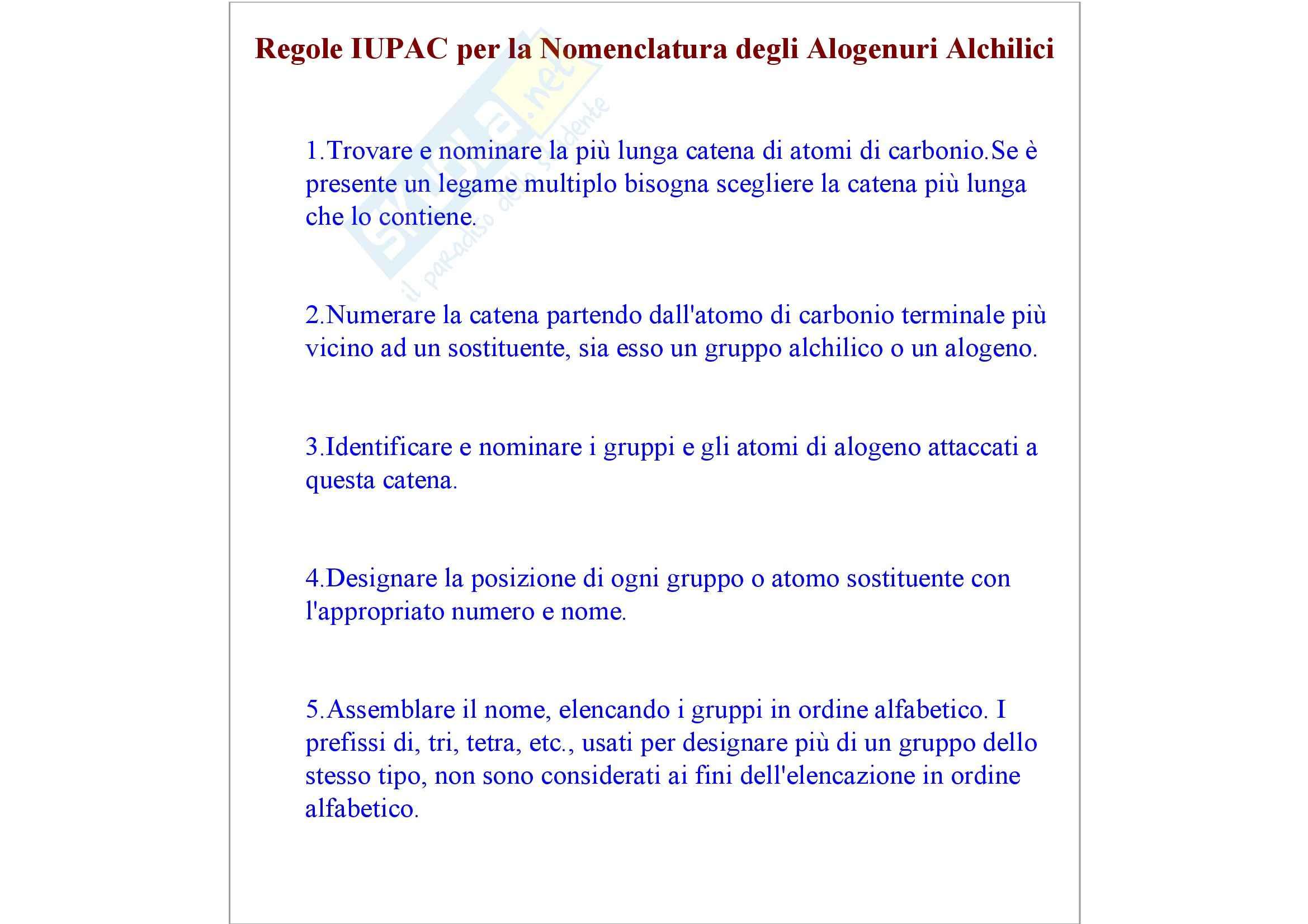 Chimica organica - gli alogenuri alchilici Pag. 2