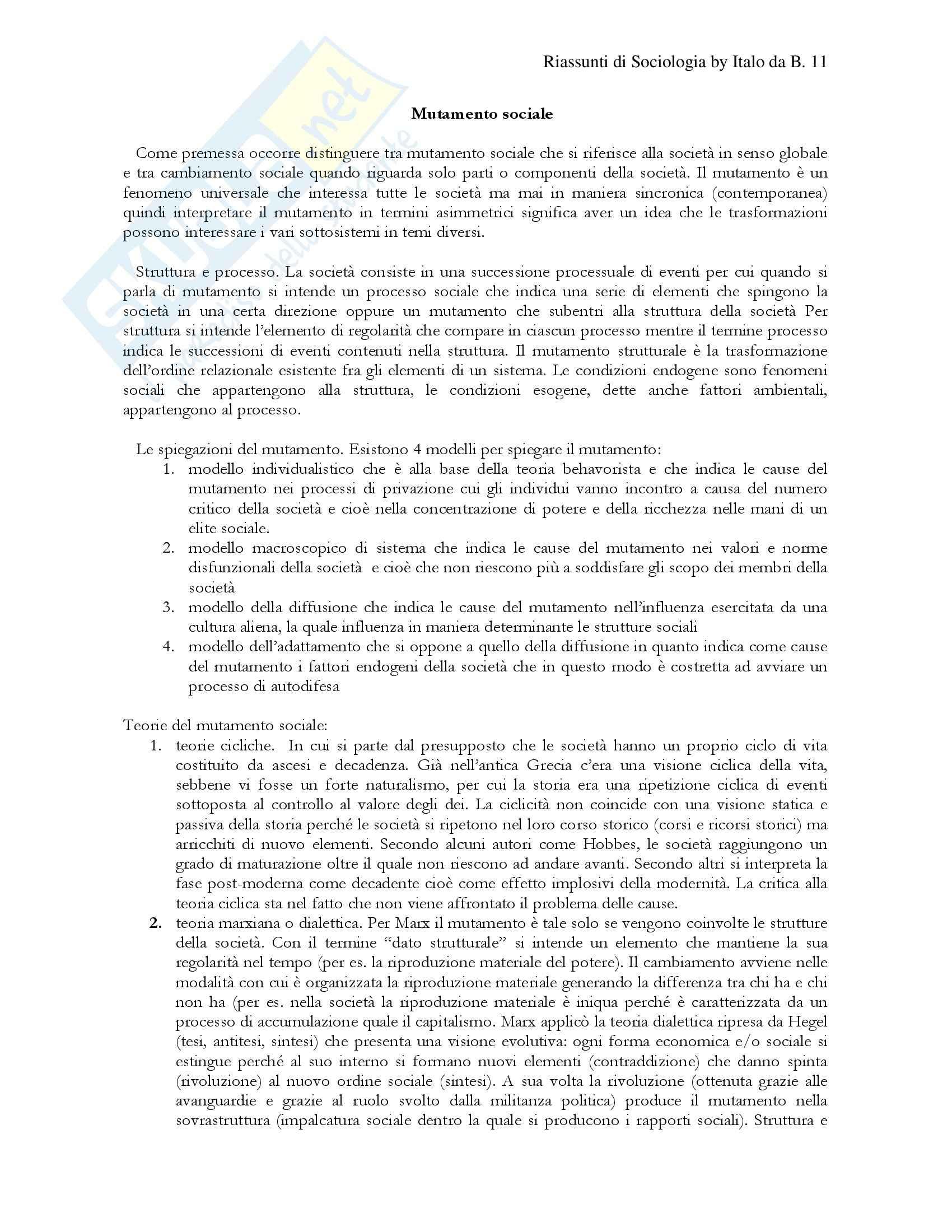 Istituzioni di sociologia Pag. 11