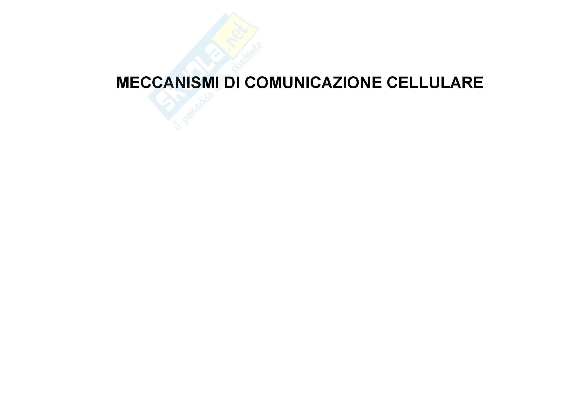 Meccanismi di Comunicazione Cellulare