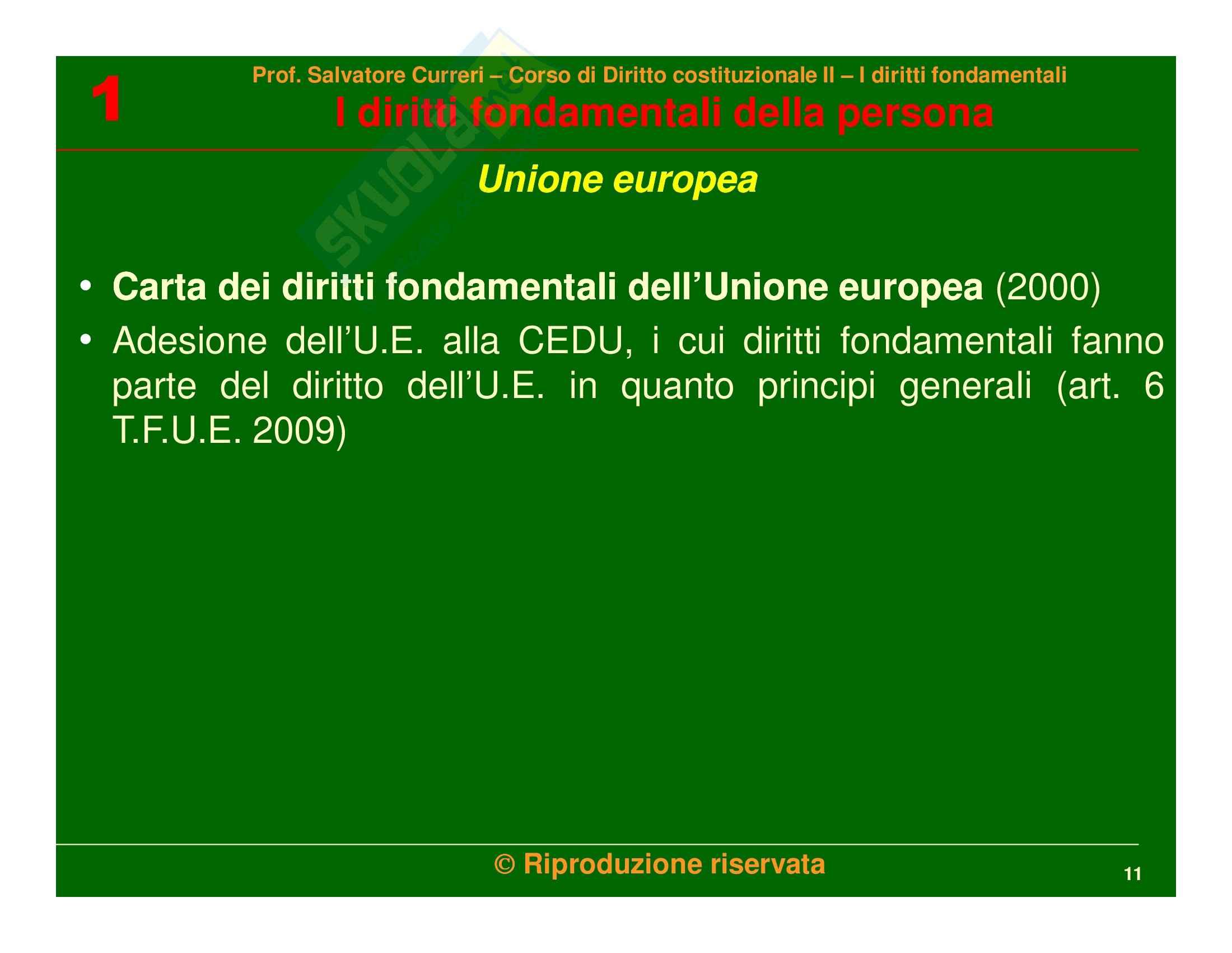 Diritto costituzionale - i diritti fondamentali della persona Pag. 11