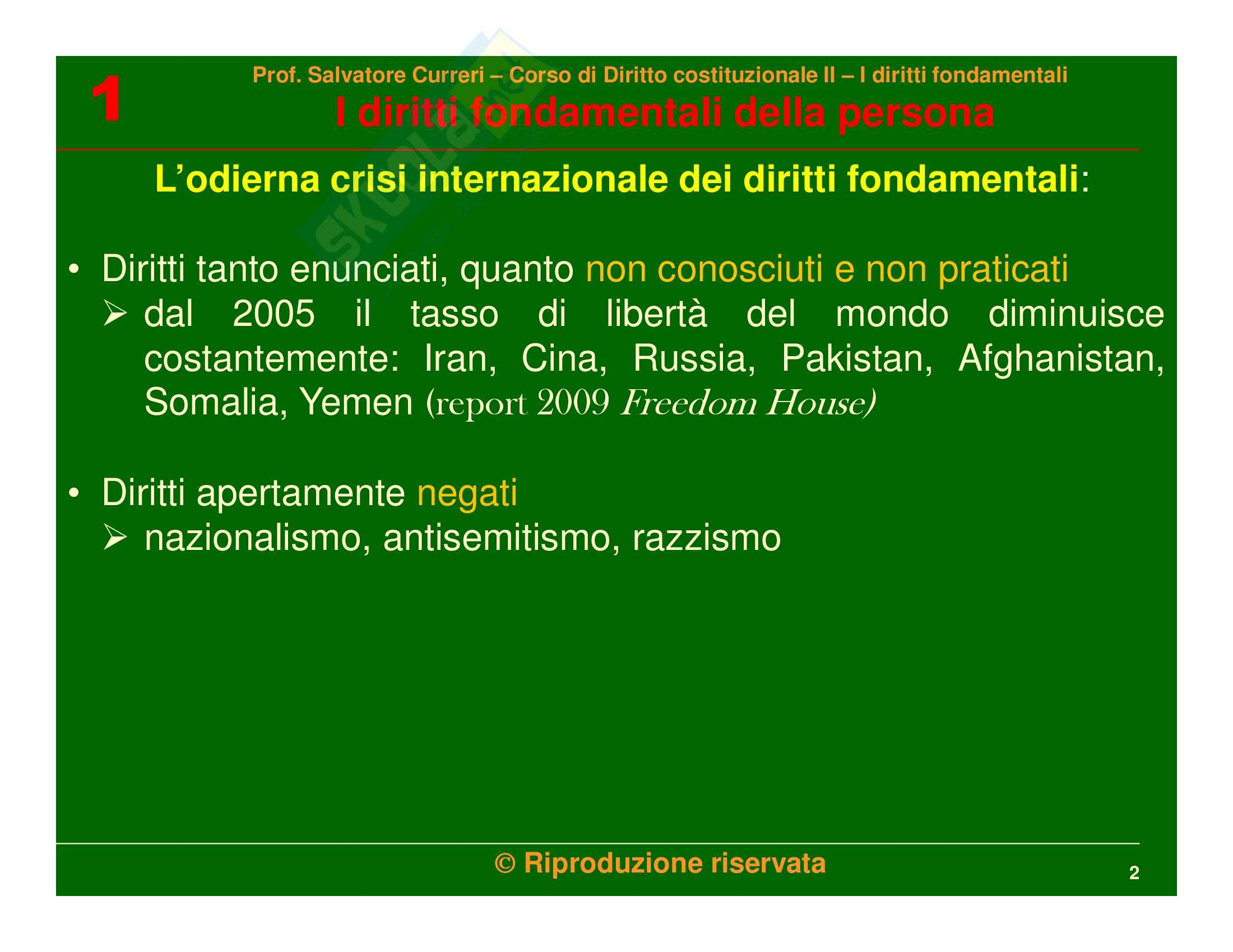 Diritto costituzionale - i diritti fondamentali della persona Pag. 2
