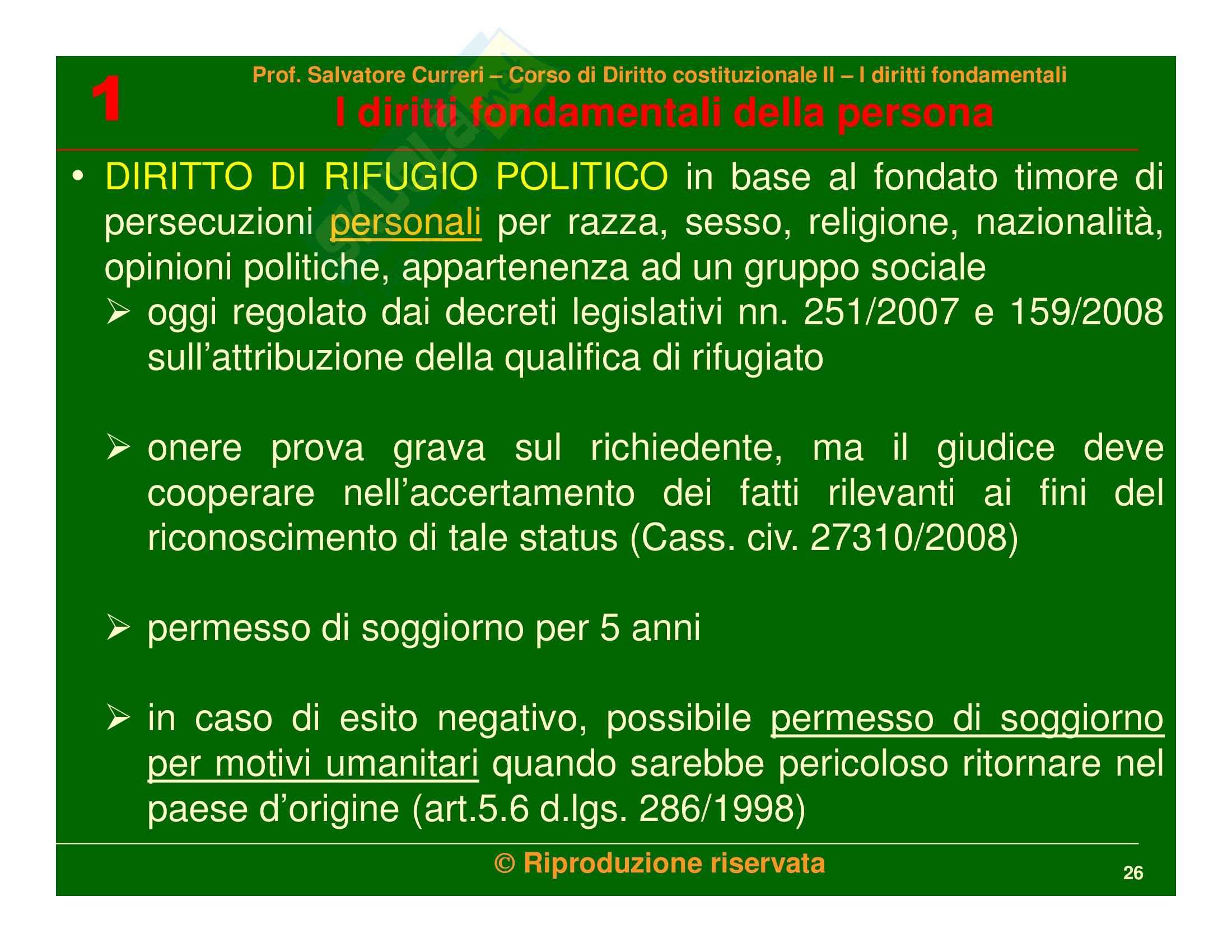 Diritto costituzionale - i diritti fondamentali della persona Pag. 26