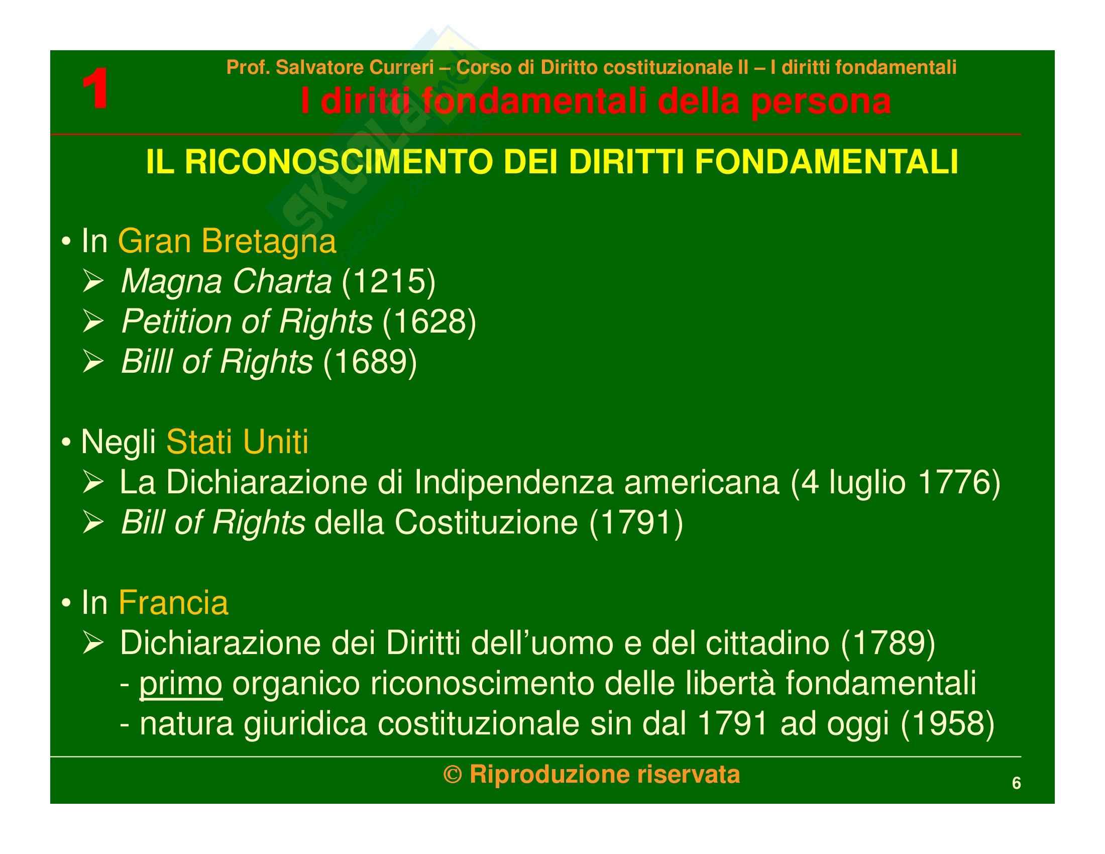 Diritto costituzionale - i diritti fondamentali della persona Pag. 6