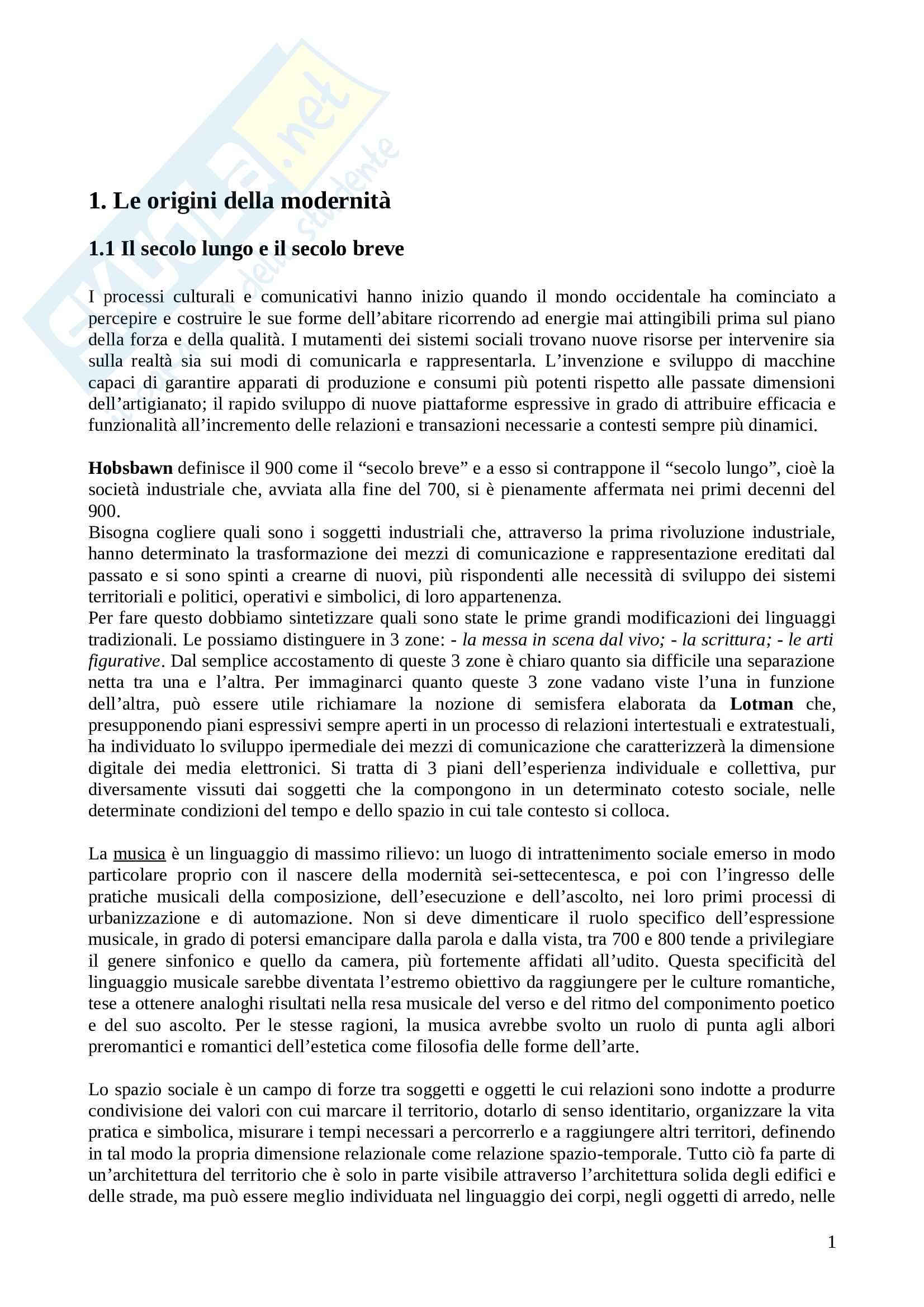 Riassunto esame Introduzione ai media, prof. Miconi, libro consigliato Sociologie della comunicazione, Abruzzese e Mancini Pag. 1