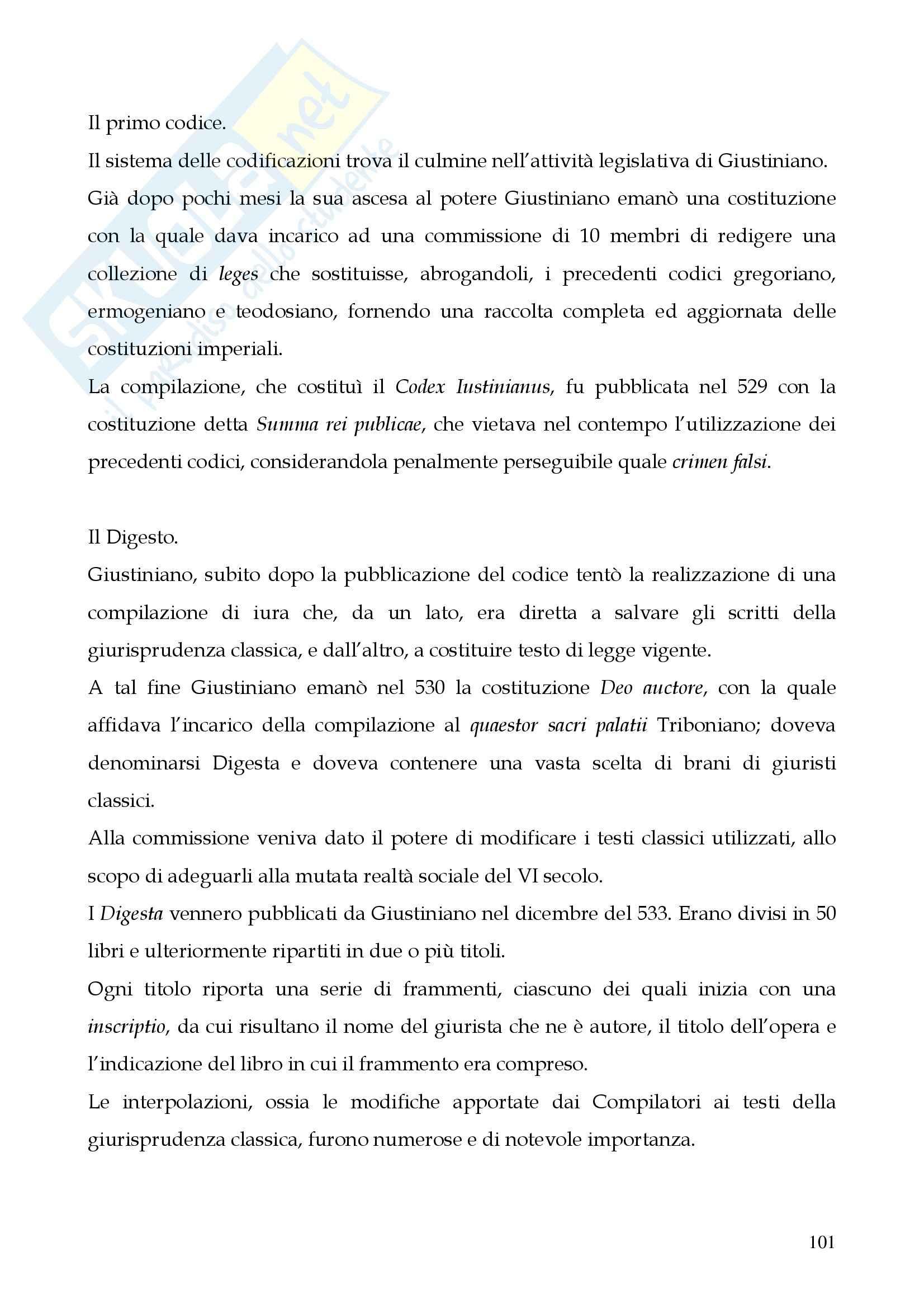Riassunto esame Storia del diritto romano, prof. Cerami, libro consigliato Cerami, Corbino Pag. 101