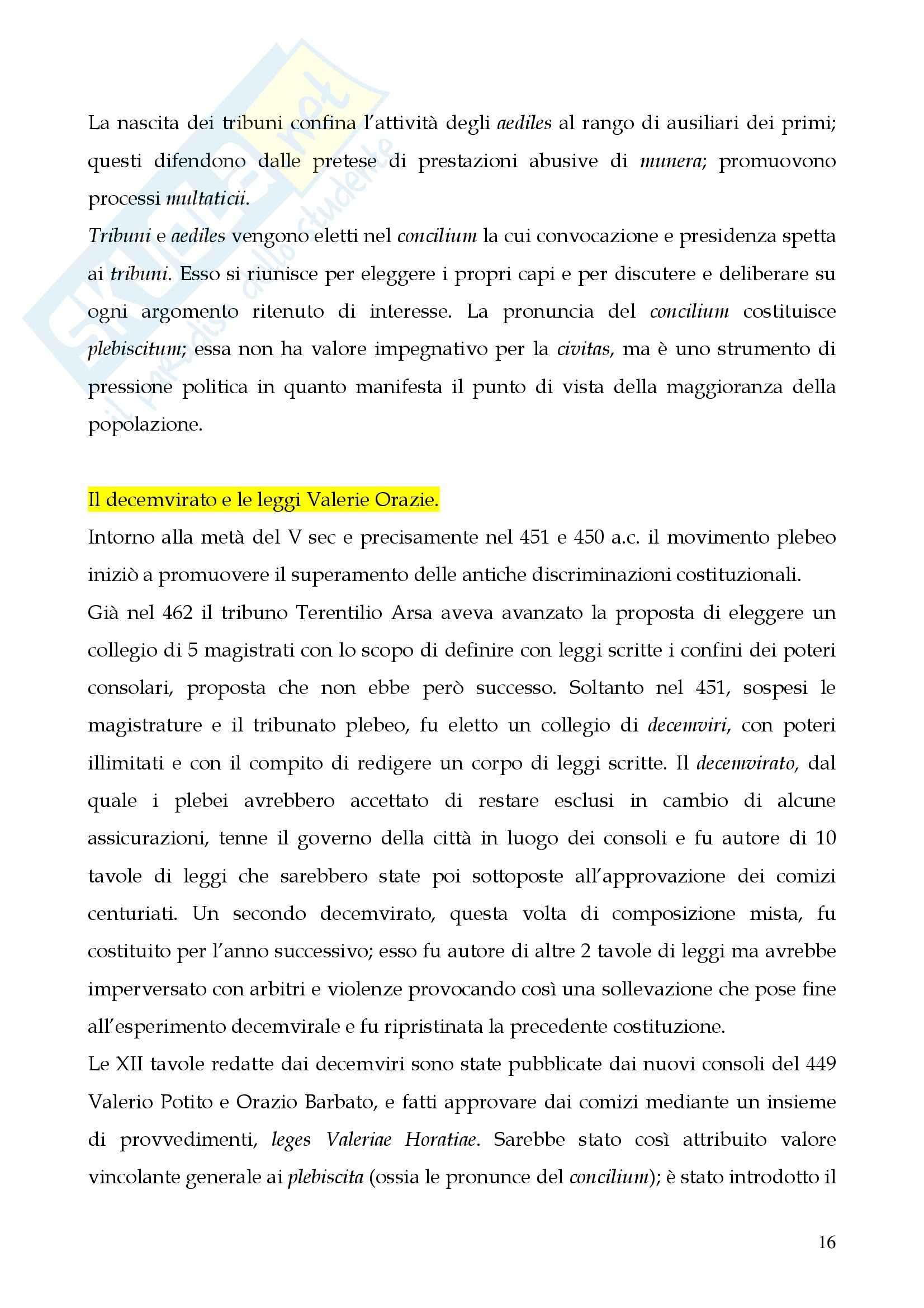 Riassunto esame Storia del diritto romano, prof. Cerami, libro consigliato Cerami, Corbino Pag. 16