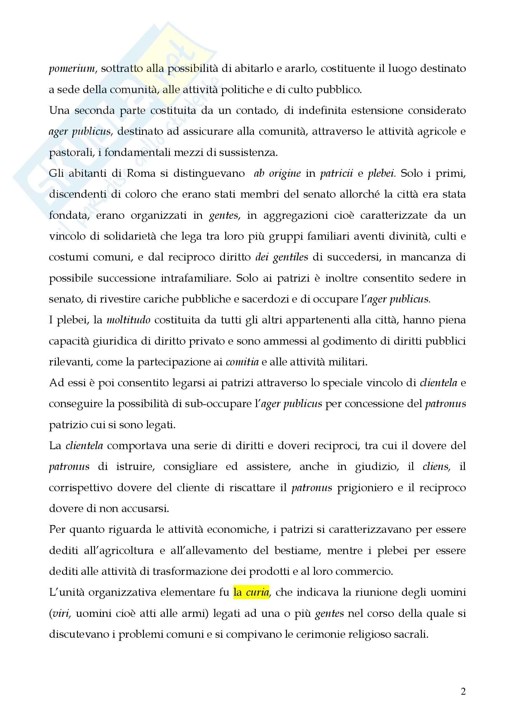 Riassunto esame Storia del diritto romano, prof. Cerami, libro consigliato Cerami, Corbino Pag. 2