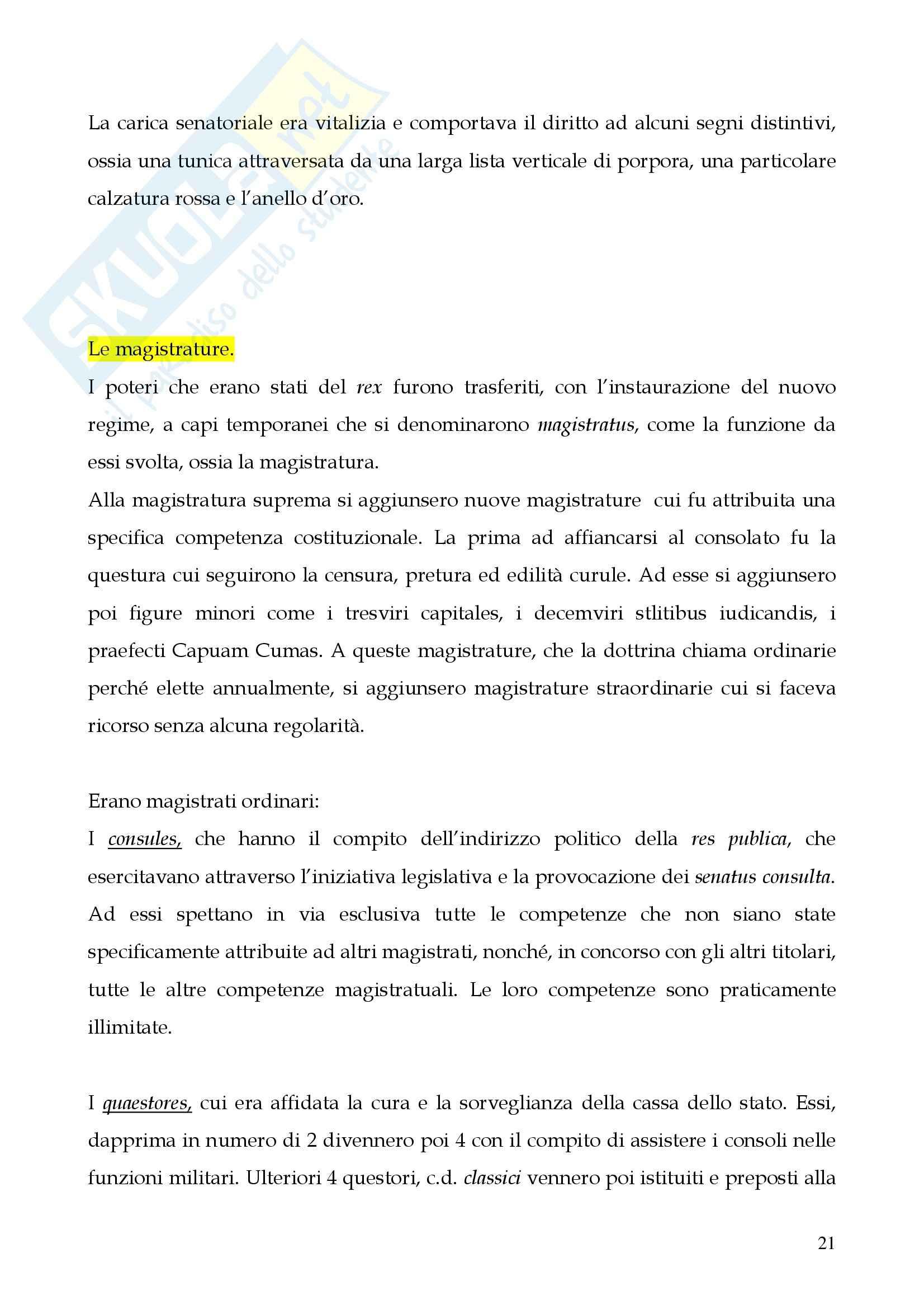 Riassunto esame Storia del diritto romano, prof. Cerami, libro consigliato Cerami, Corbino Pag. 21