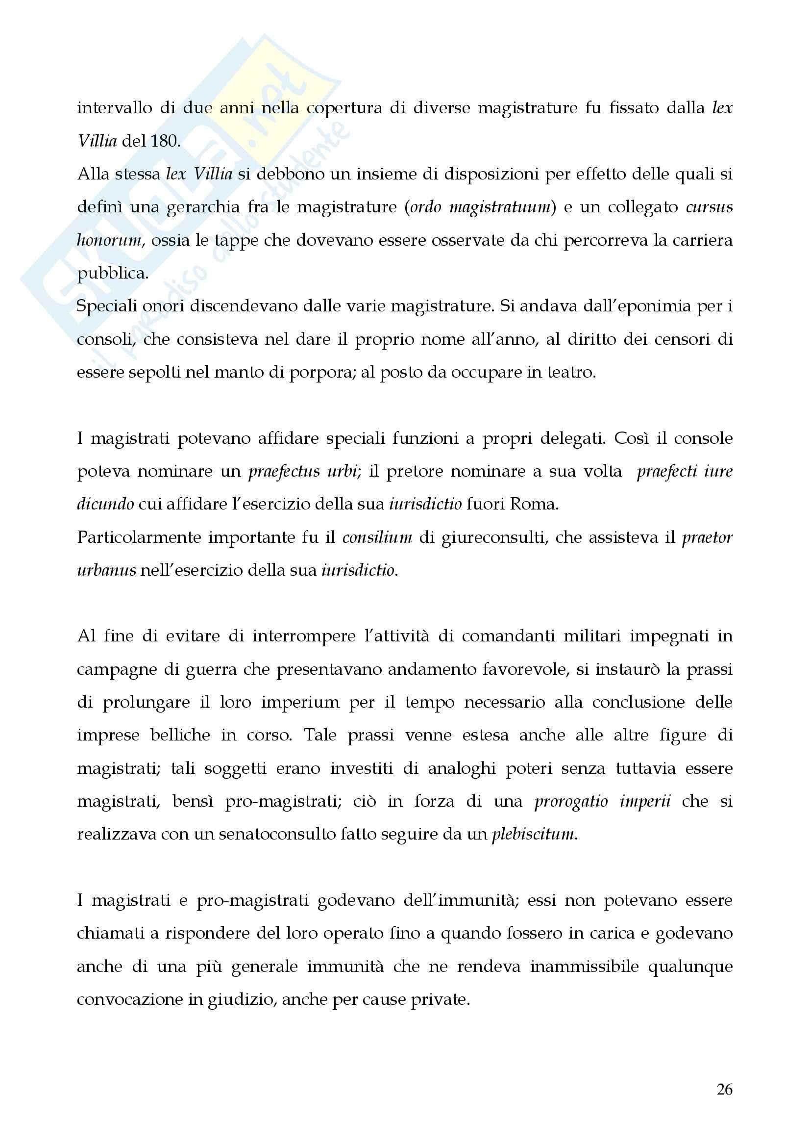 Riassunto esame Storia del diritto romano, prof. Cerami, libro consigliato Cerami, Corbino Pag. 26