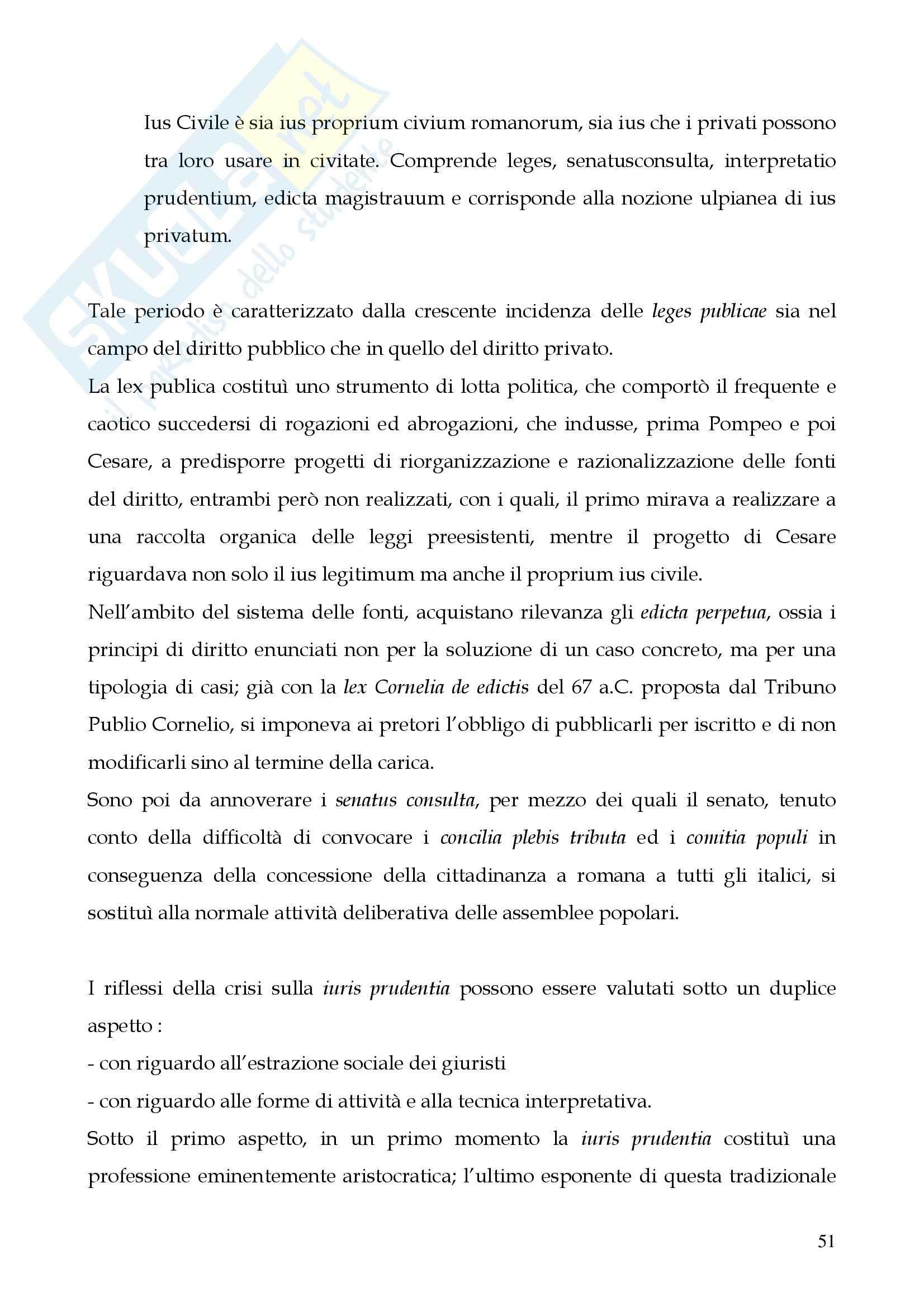 Riassunto esame Storia del diritto romano, prof. Cerami, libro consigliato Cerami, Corbino Pag. 51