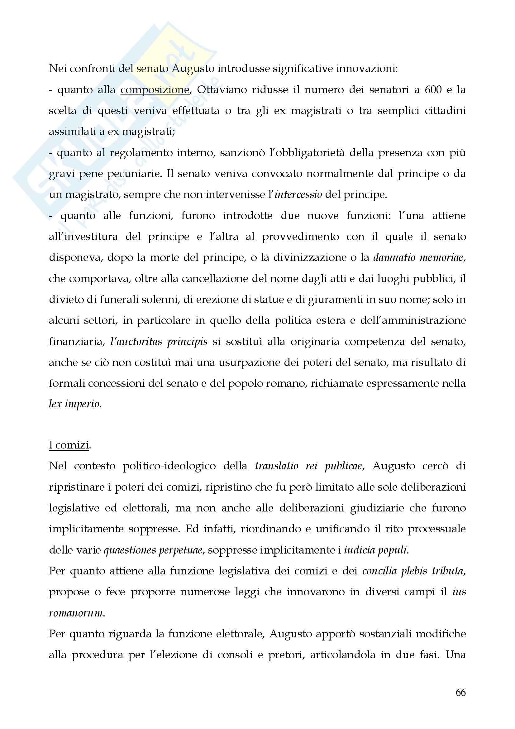 Riassunto esame Storia del diritto romano, prof. Cerami, libro consigliato Cerami, Corbino Pag. 66