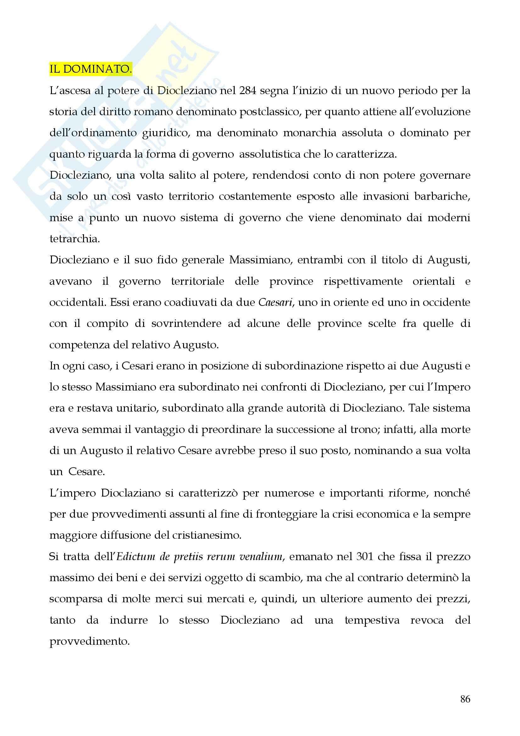 Riassunto esame Storia del diritto romano, prof. Cerami, libro consigliato Cerami, Corbino Pag. 86
