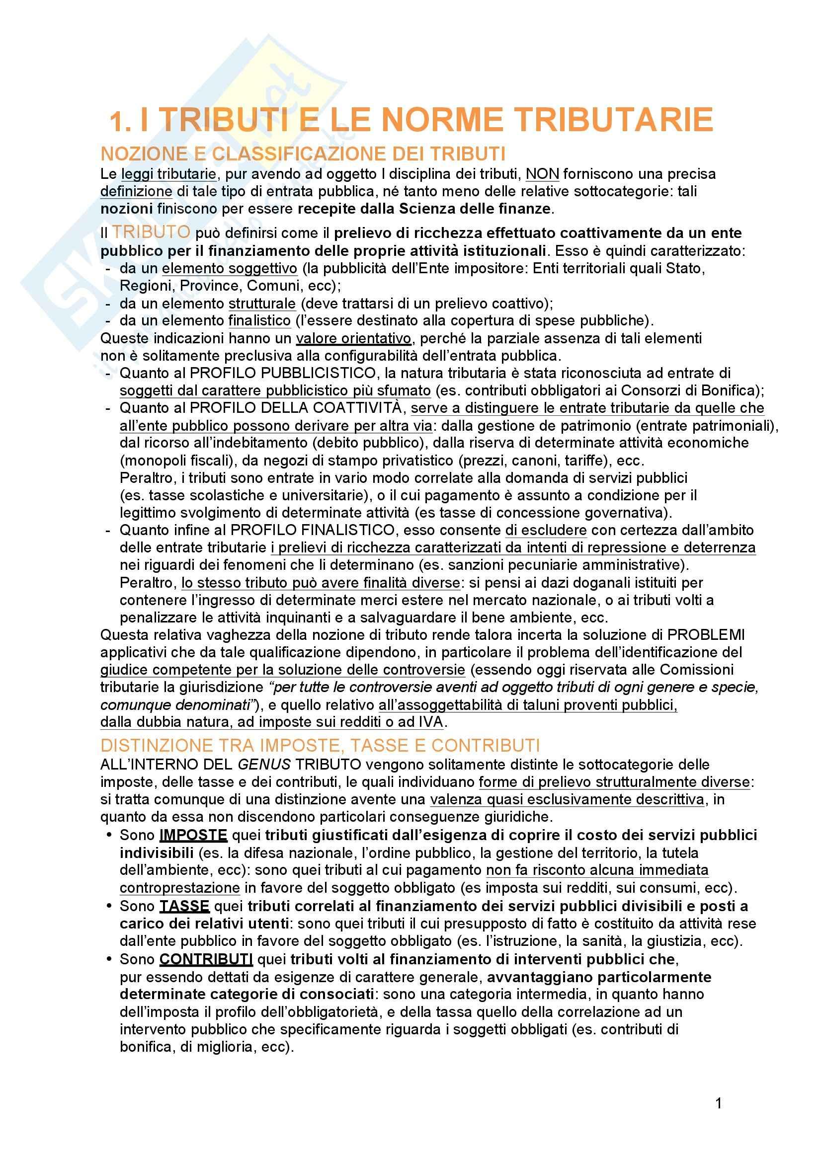 appunto S. Messina Diritto tributario