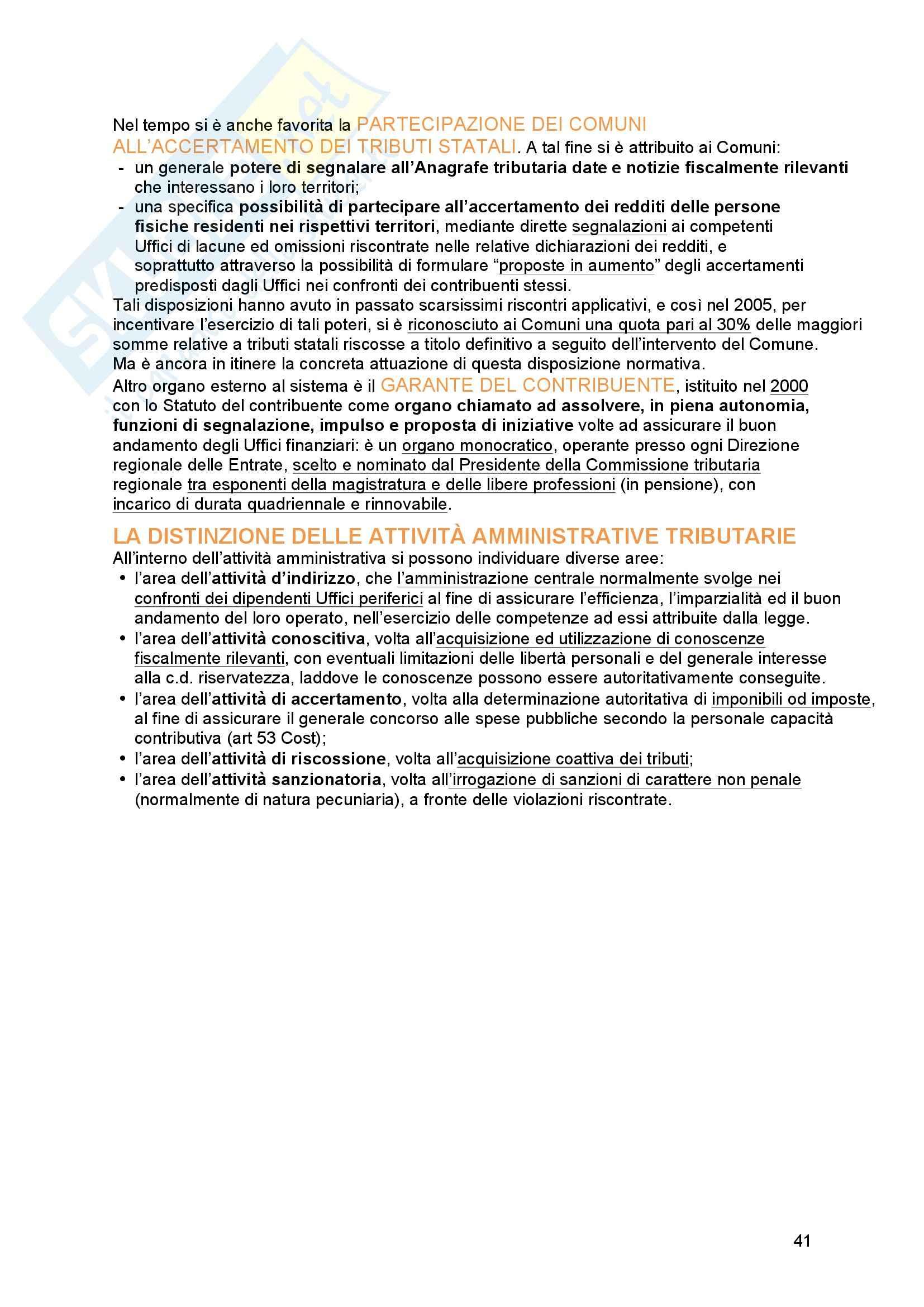 Riassunto esame Diritto tributario, Prof. Messina, libro consigliato Principi di diritto tributario, La Rosa Pag. 41