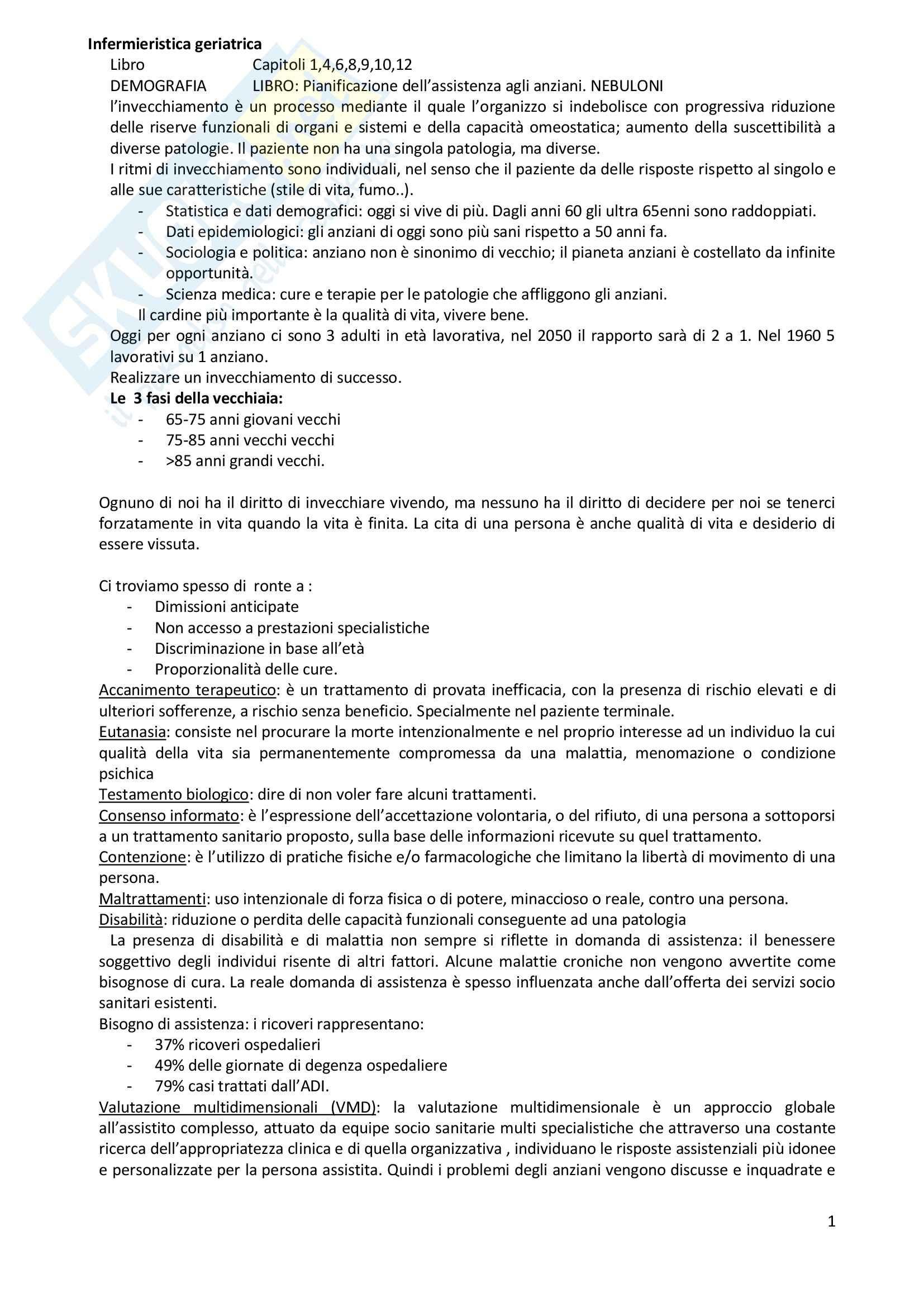 Infermieristica geriatrica