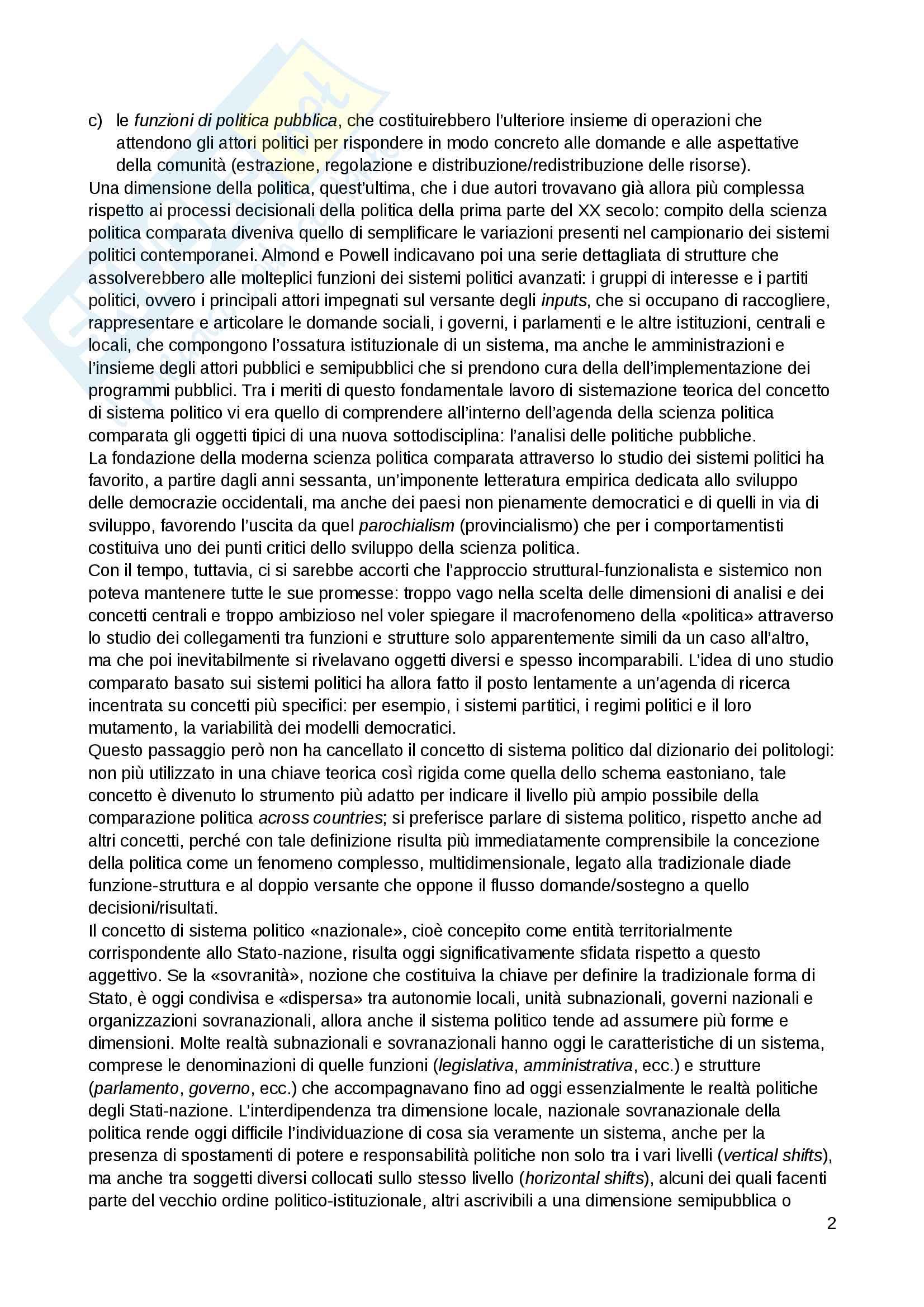 """Riassunto esame Scienza politica, docente Massari, libro consigliato: """"Il sistema politico italiano"""", Cotta, Verzichelli Pag. 2"""
