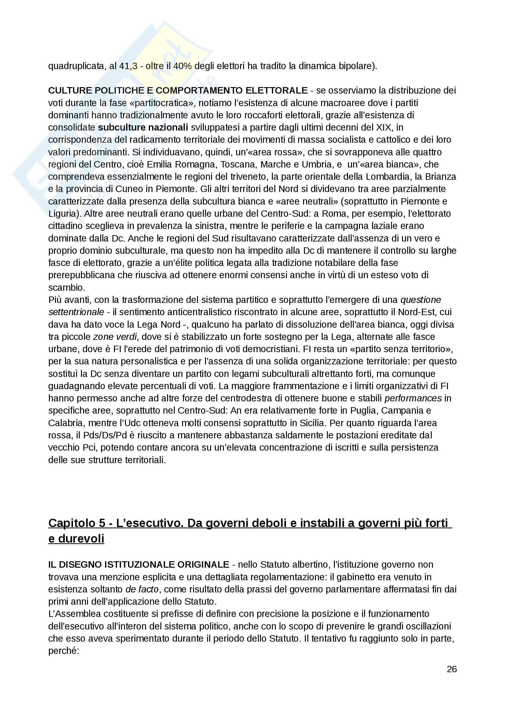 """Riassunto esame Scienza politica, docente Massari, libro consigliato: """"Il sistema politico italiano"""", Cotta, Verzichelli Pag. 26"""
