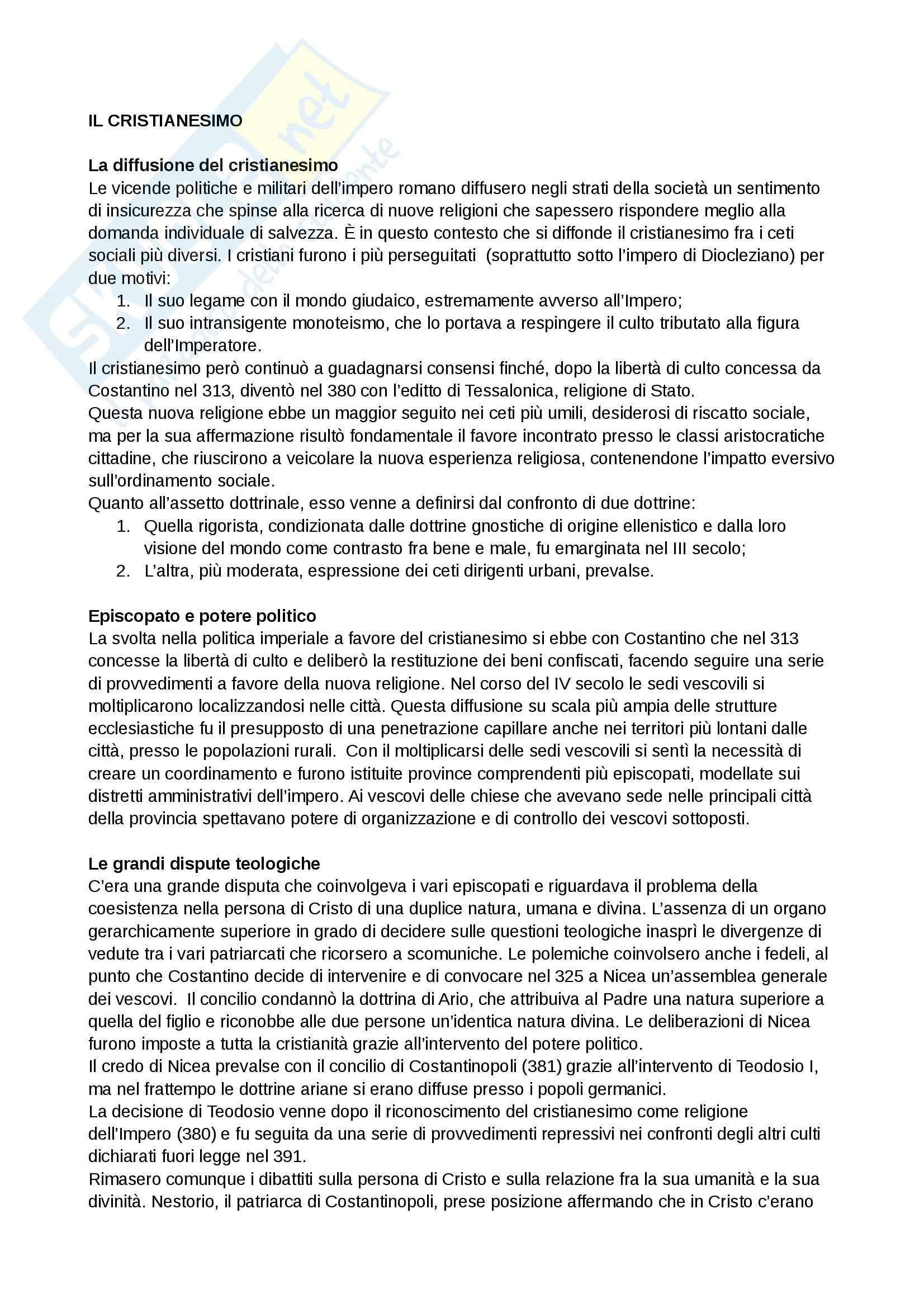 Riassunto esame Storia medievale, prof. Grillo, libro consigliato Il Medioevo.Profilo di un millennio, Cortonesi