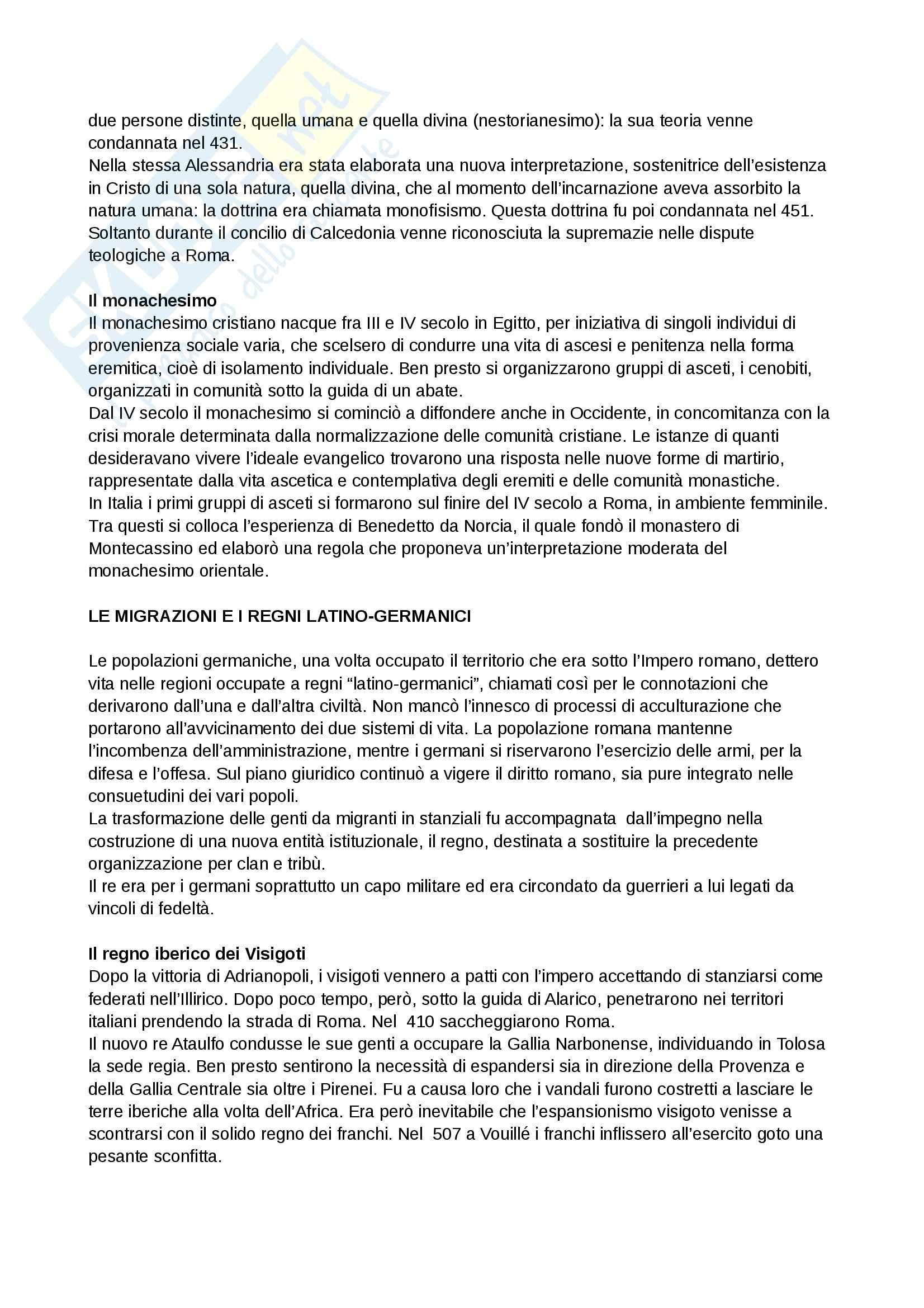 Riassunto esame Storia medievale, prof. Grillo, libro consigliato Il Medioevo.Profilo di un millennio, Cortonesi Pag. 2