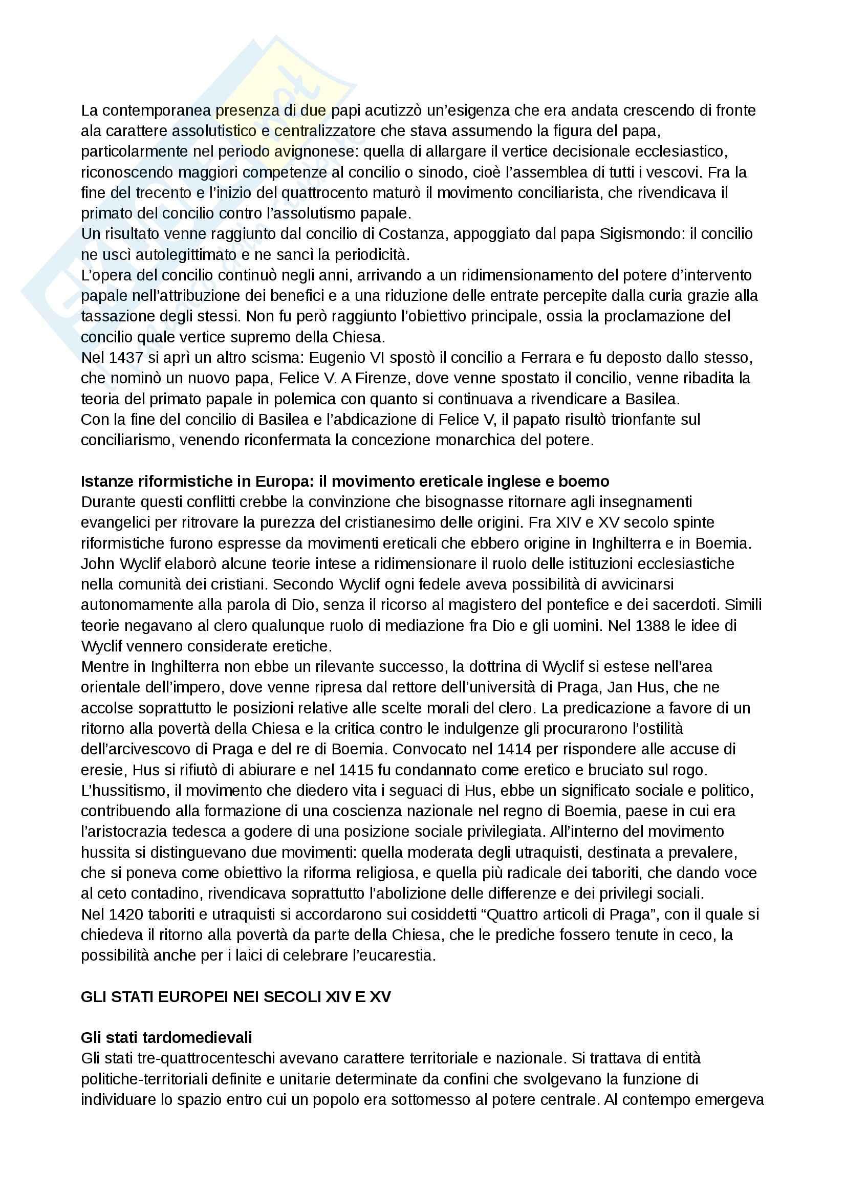 Riassunto esame Storia medievale, prof. Grillo, libro consigliato Il Medioevo.Profilo di un millennio, Cortonesi Pag. 36