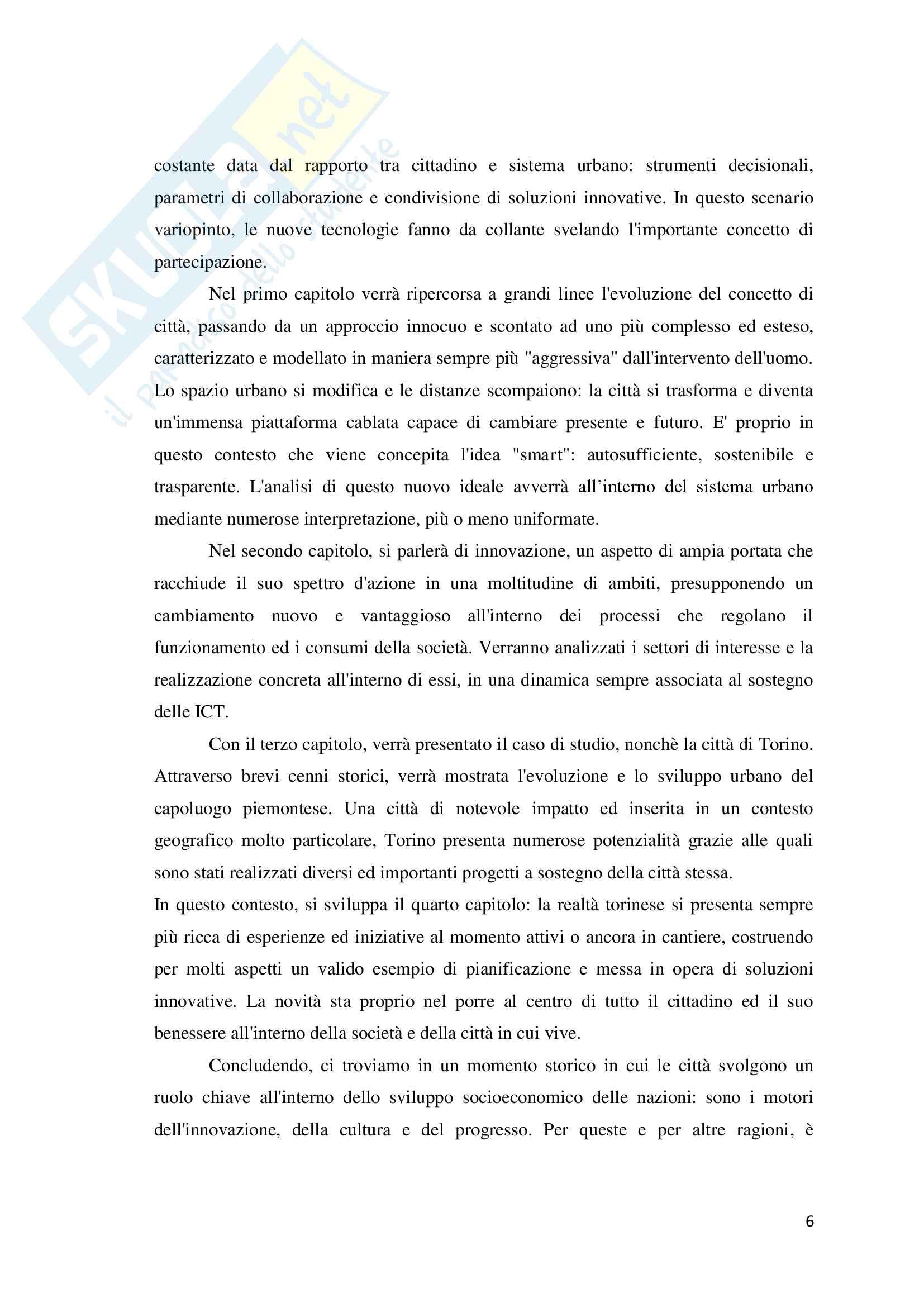 Torino Smart City: la rigenerazione della città attraverso le Information and Communication Technologies. Pag. 6