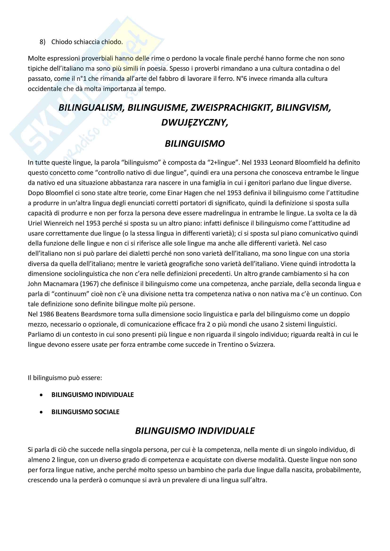 Appunti esame Teoria e tecnica della traduzione, prof. Diadori Pag. 2