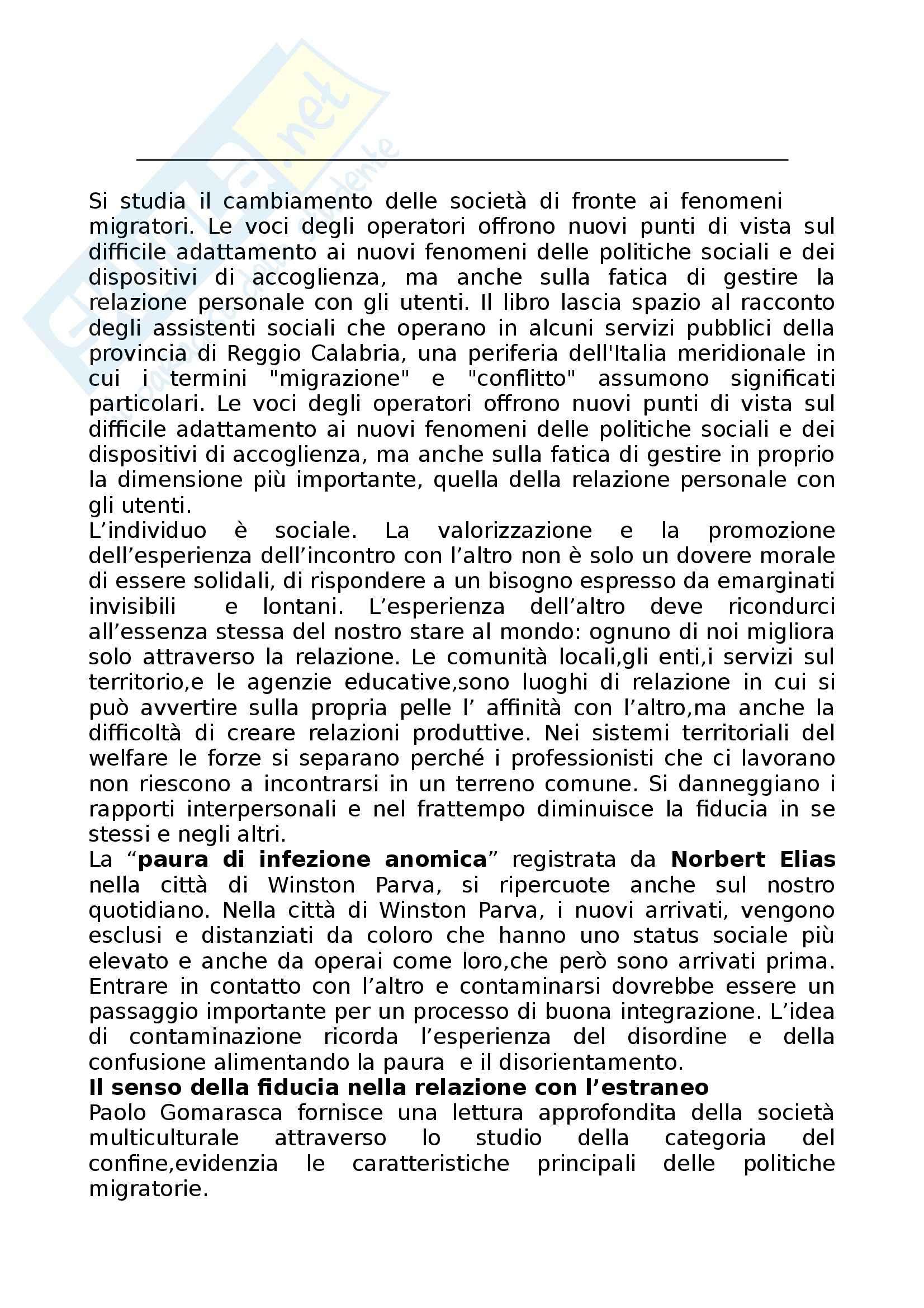 Riassunto esame Politiche Sociali, prof. Tarsia, libro consigliato Avere Cura del Conflitto