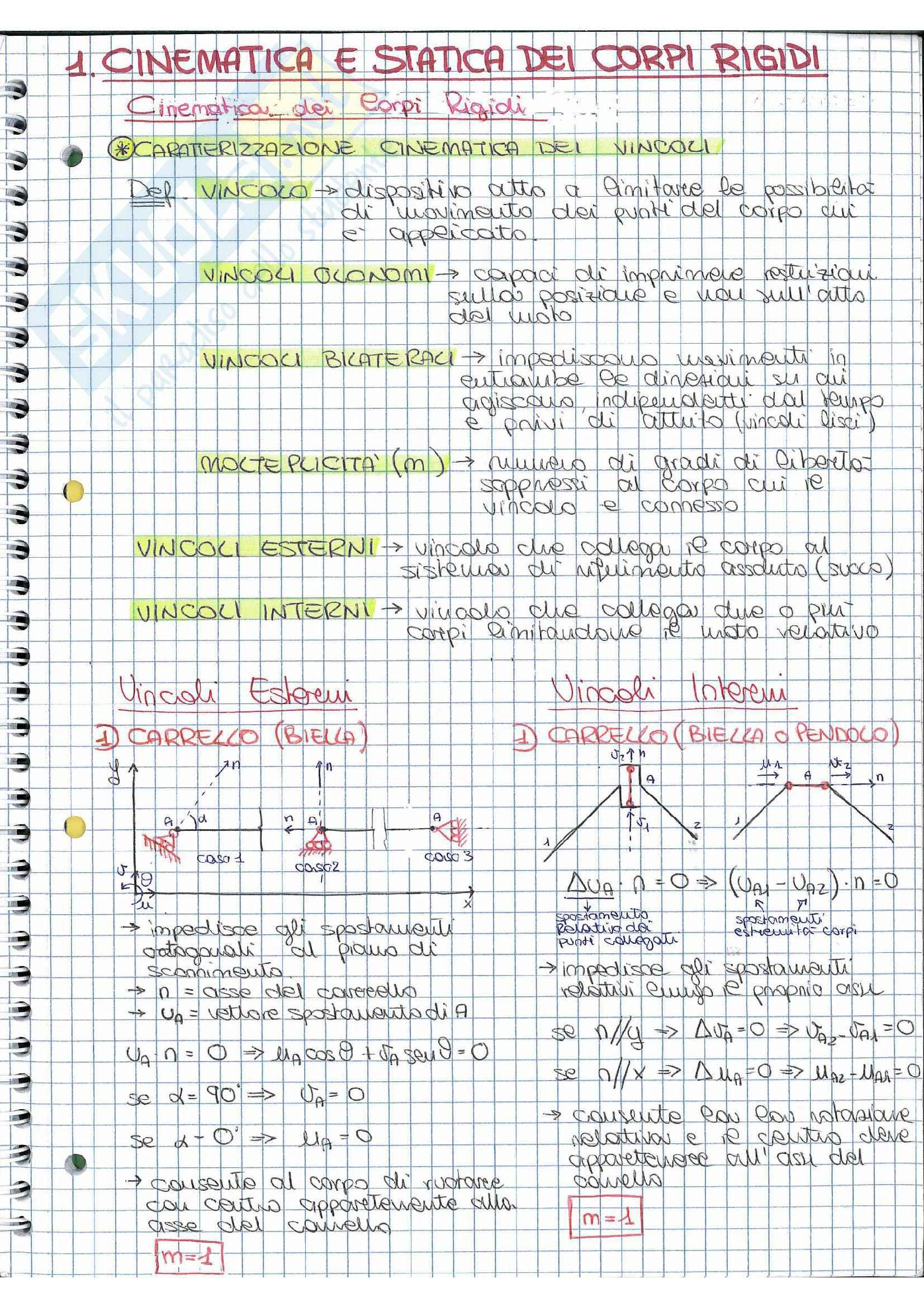 Riassunto esame Scienza delle costruzioni, prof.  Vestroni,  libro consigliato  Casini, Vasta