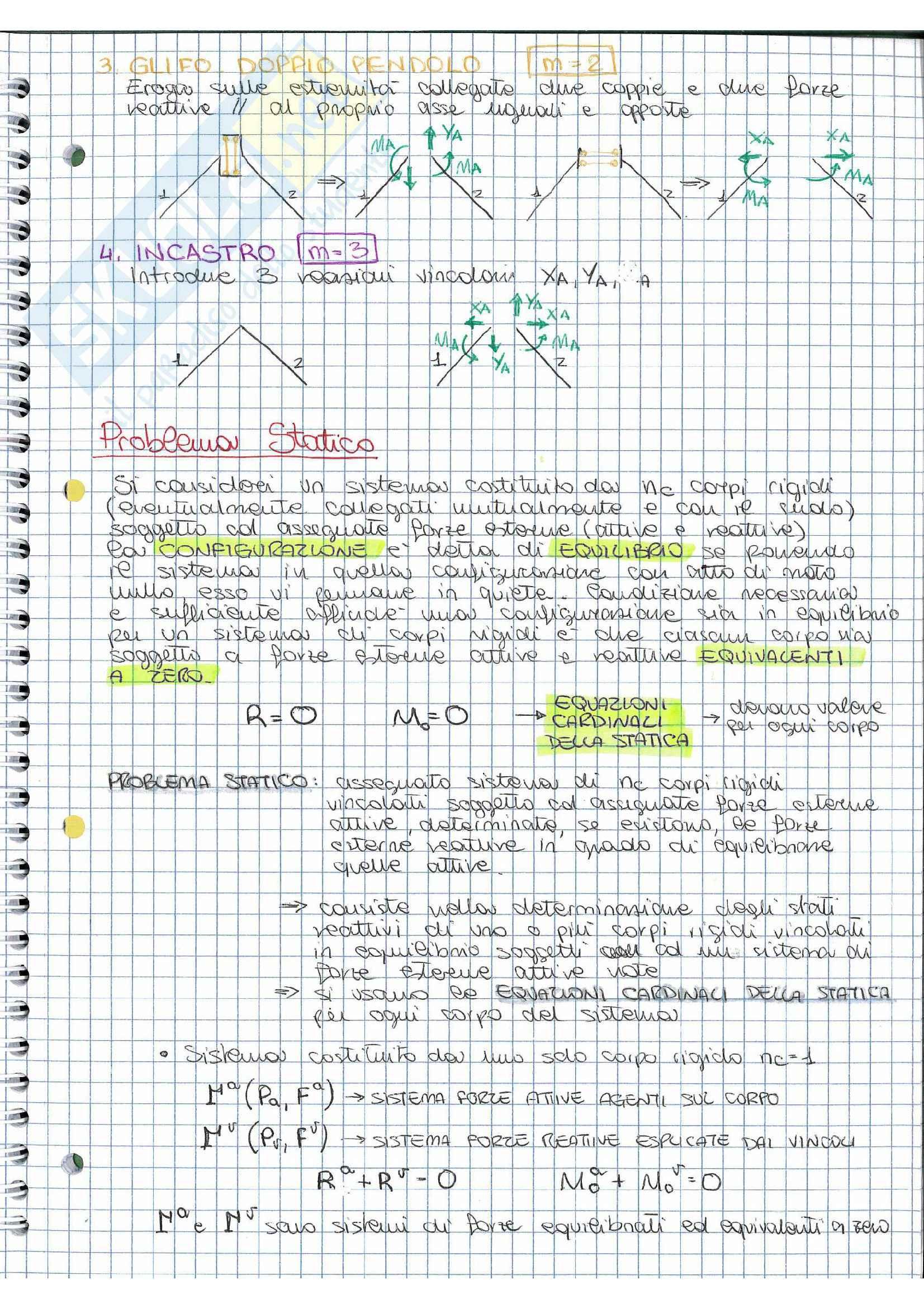 Riassunto esame Scienza delle costruzioni, prof.  Vestroni,  libro consigliato  Casini, Vasta Pag. 11