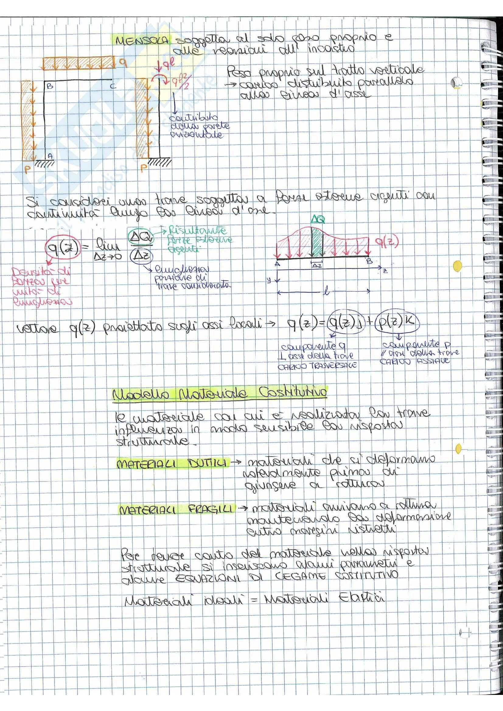 Riassunto esame Scienza delle costruzioni, prof.  Vestroni,  libro consigliato  Casini, Vasta Pag. 16