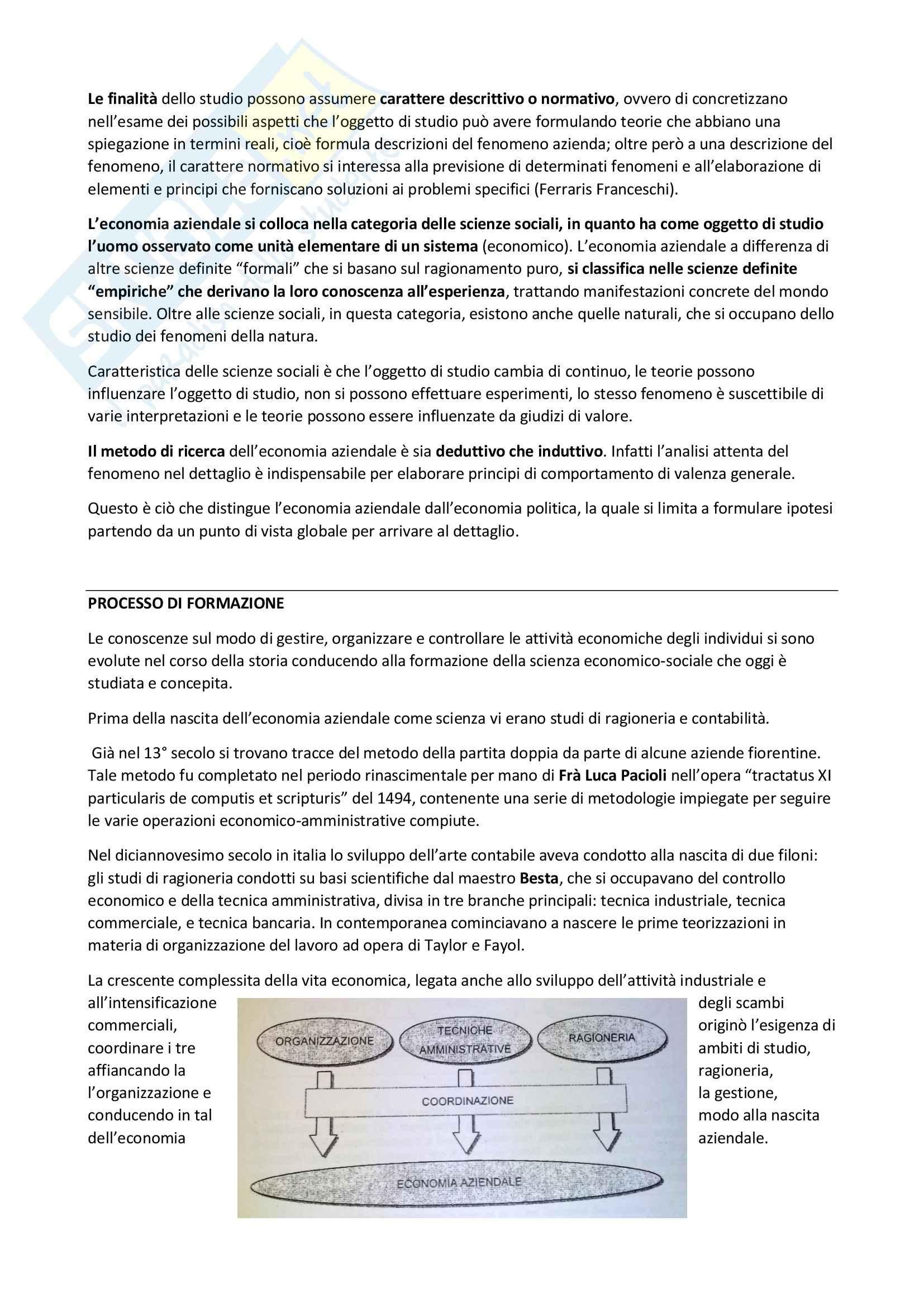 Riassunto esame Economia Aziendale, prof. Gonnella, libro consigliato Il Fenomeno Azienda Pag. 2