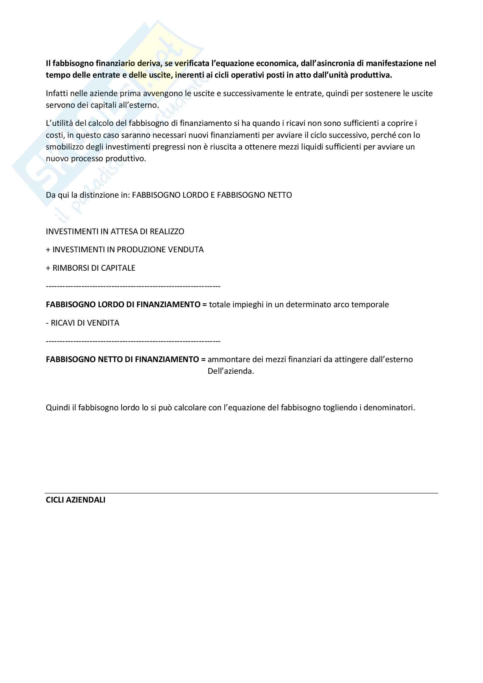 Riassunto esame Economia Aziendale, prof. Gonnella, libro consigliato Il Fenomeno Azienda Pag. 36