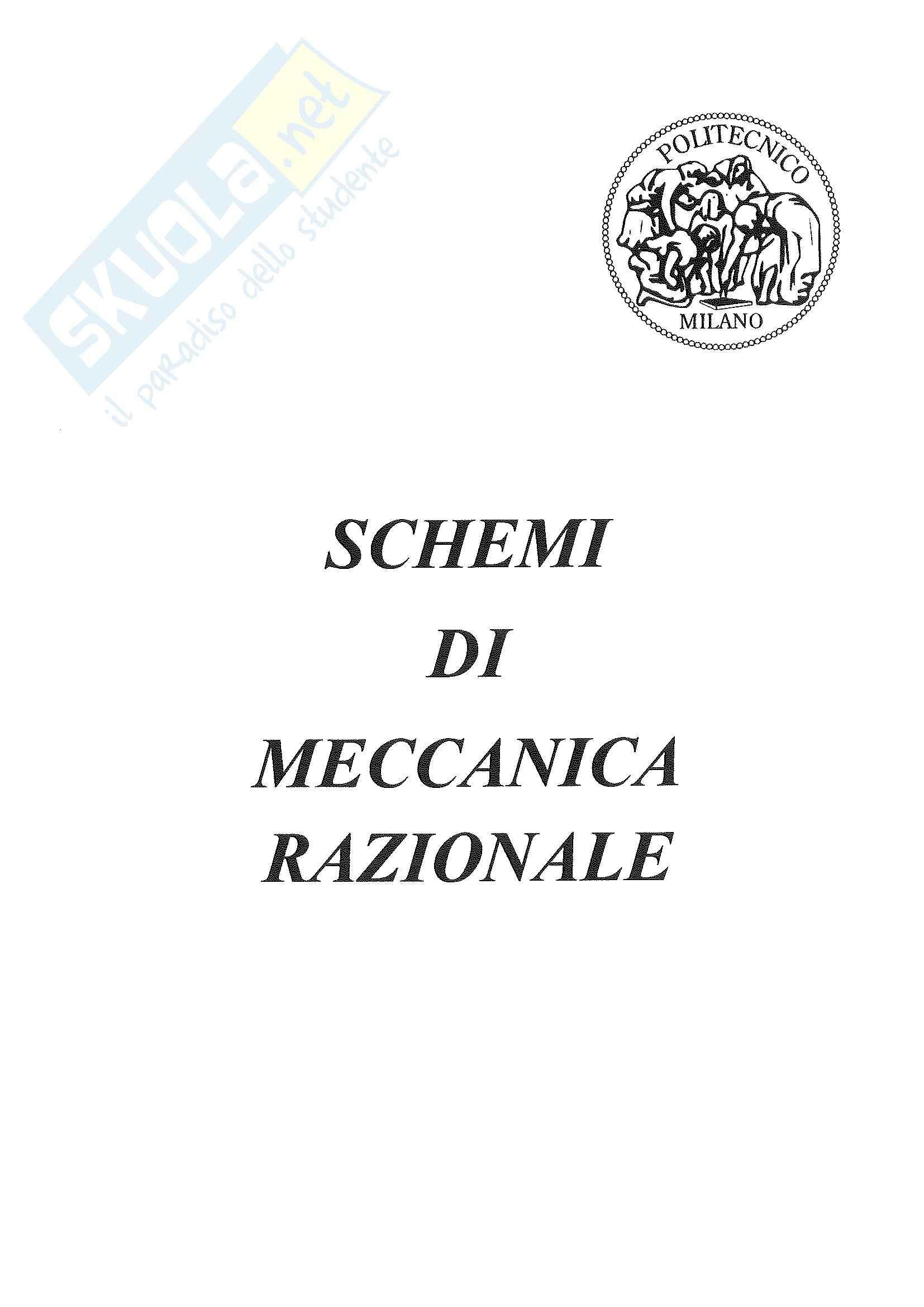 Schemi: Appunti di Meccanica Razionale