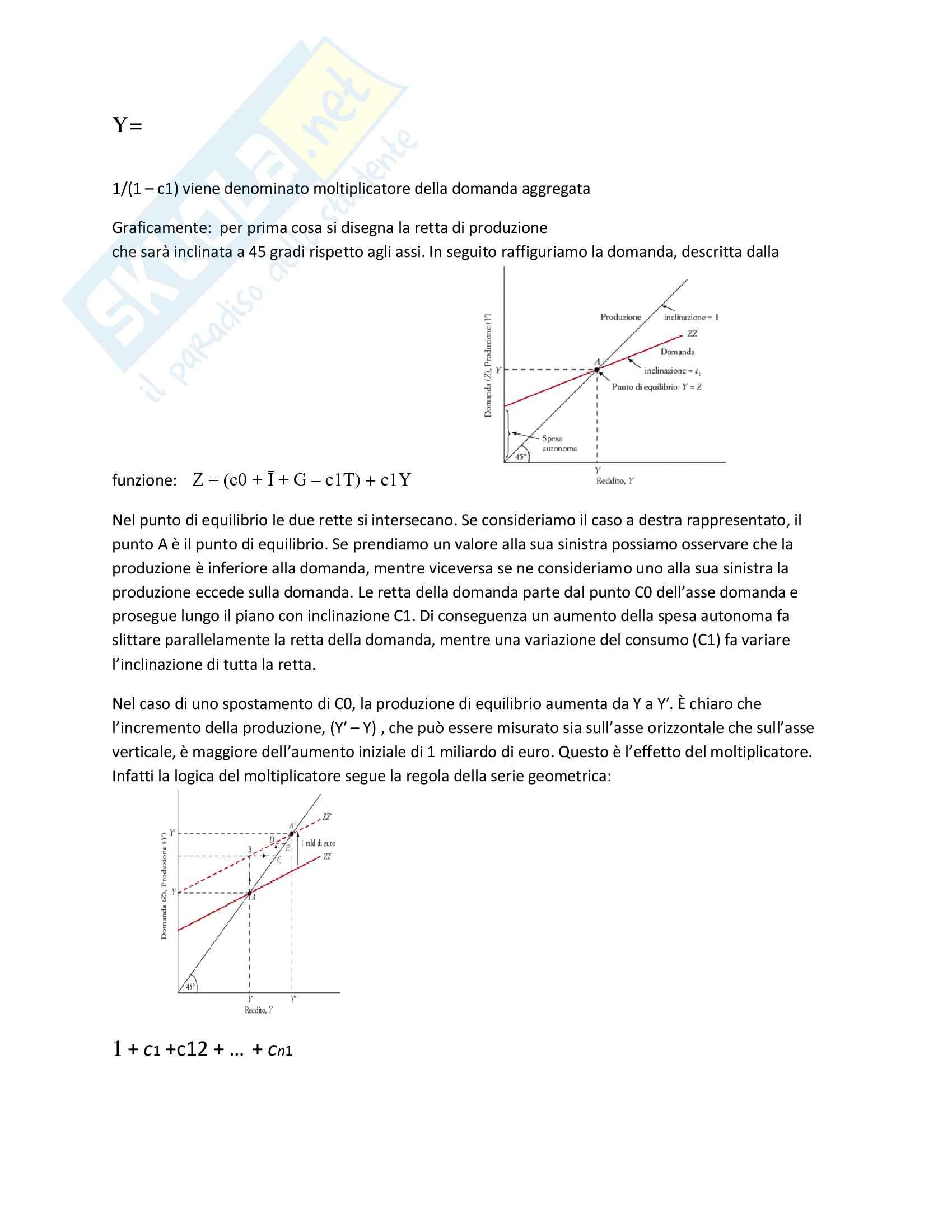 Riassunto per l'esame di introduzione a macroeconomia, prof Strozzi, libro suggerito Blanchard macroeconomia Pag. 6