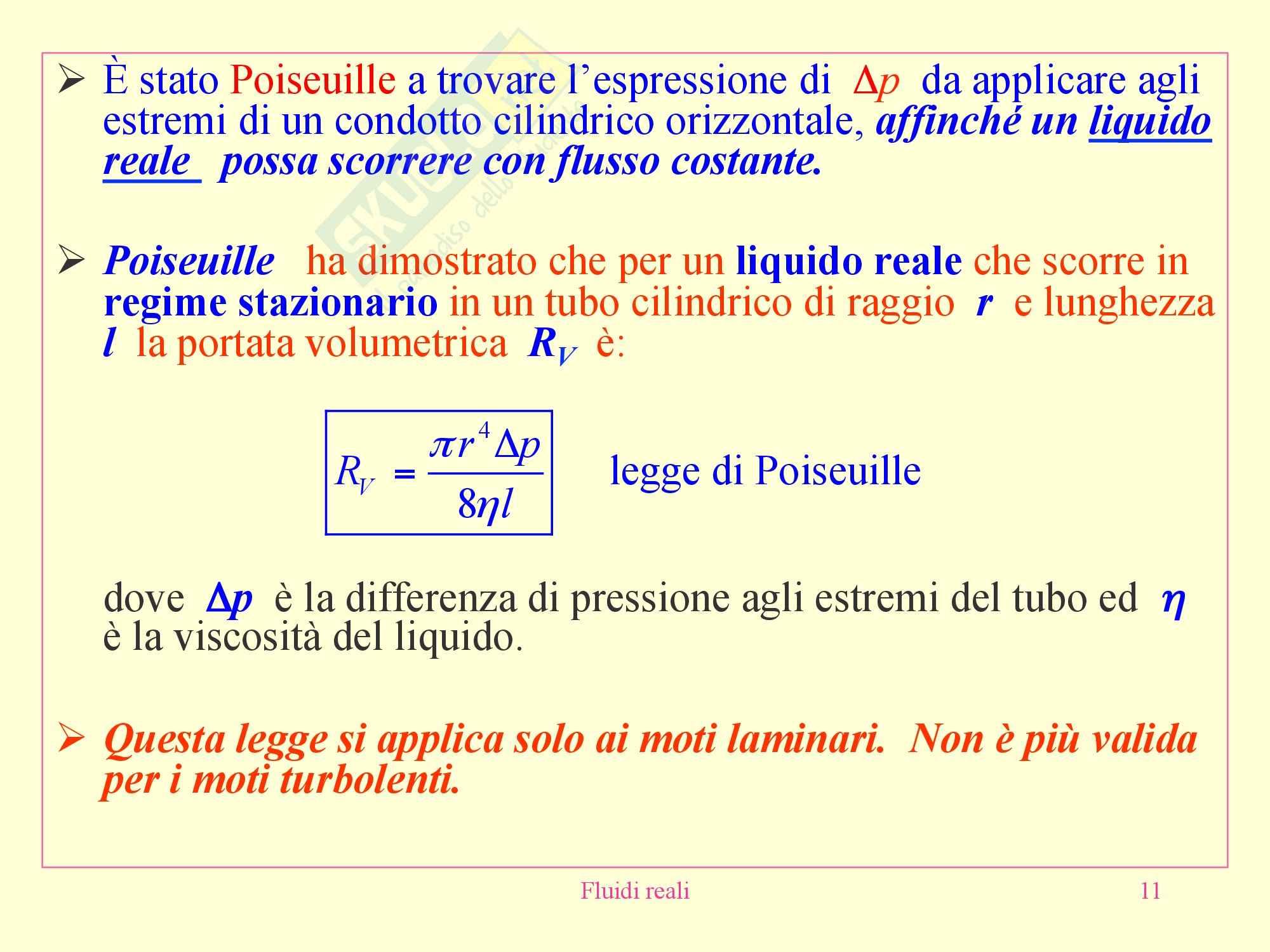 Fisica medica - fluidi reali Pag. 11