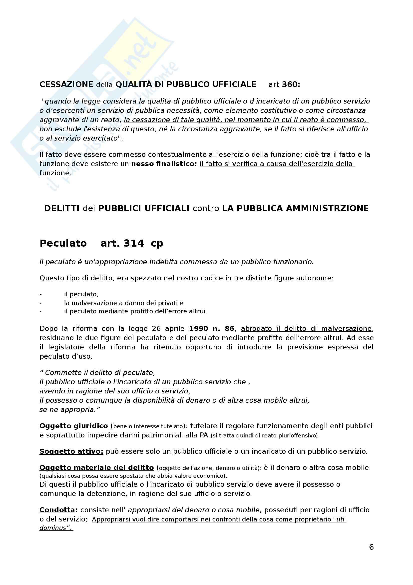 Riassunto esame Diritto Penale, prof. D'Ascola, libro consigliato I Delitti Contro la Pubblica Amministrazione di Fiandaca e Musco Pag. 6
