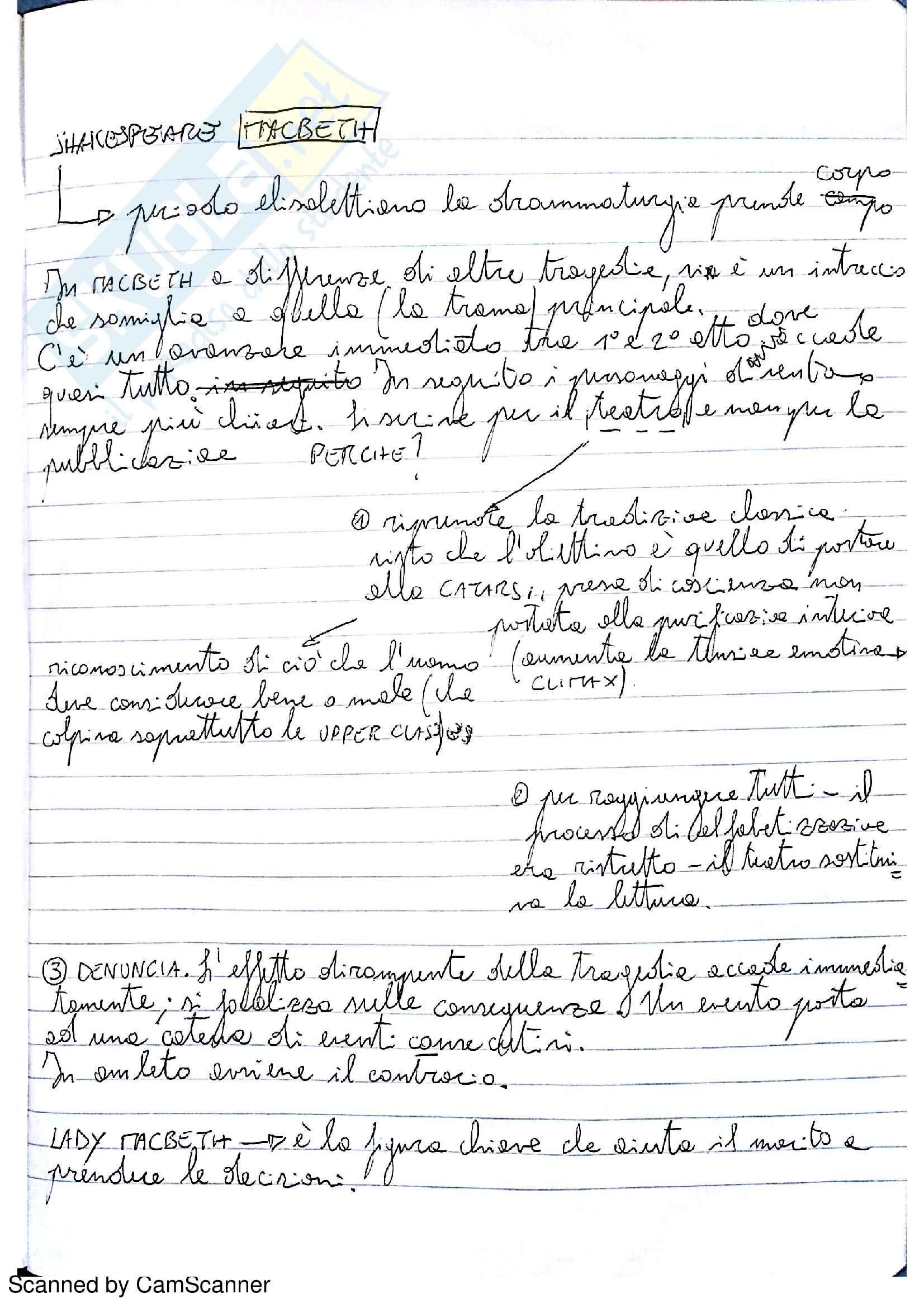 Riassunto esame Letteratura Inglese 2, prof. Partenza
