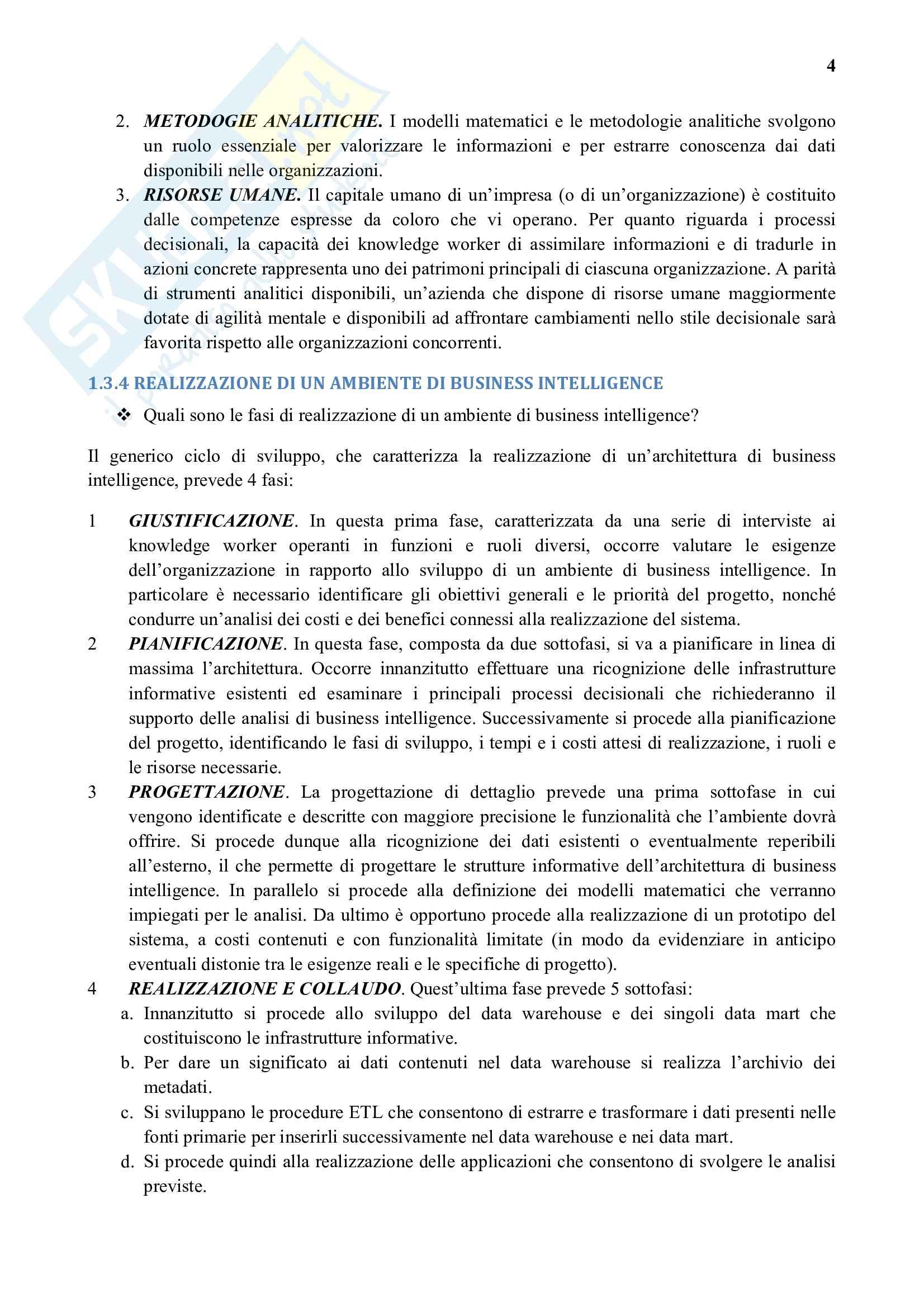 Riassunto esame Business Intelligence e Data Mining, prof. Vercellis, libro consigliato Business Intelligence e Data Mining, Vercellis Pag. 11