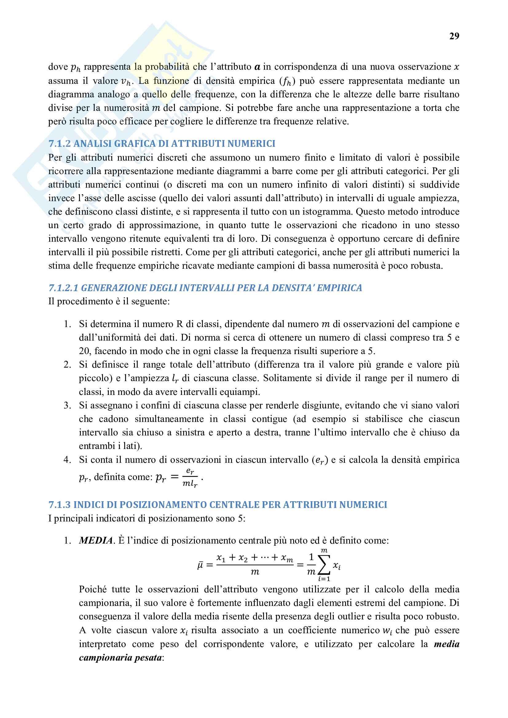 Riassunto esame Business Intelligence e Data Mining, prof. Vercellis, libro consigliato Business Intelligence e Data Mining, Vercellis Pag. 36