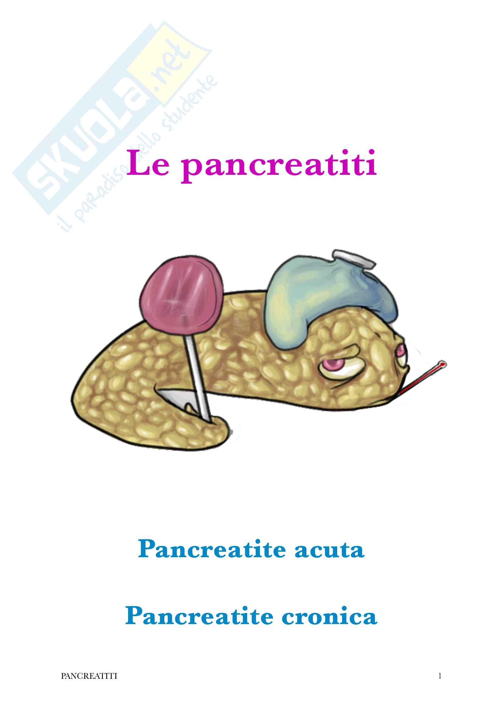 Le pancreatiti