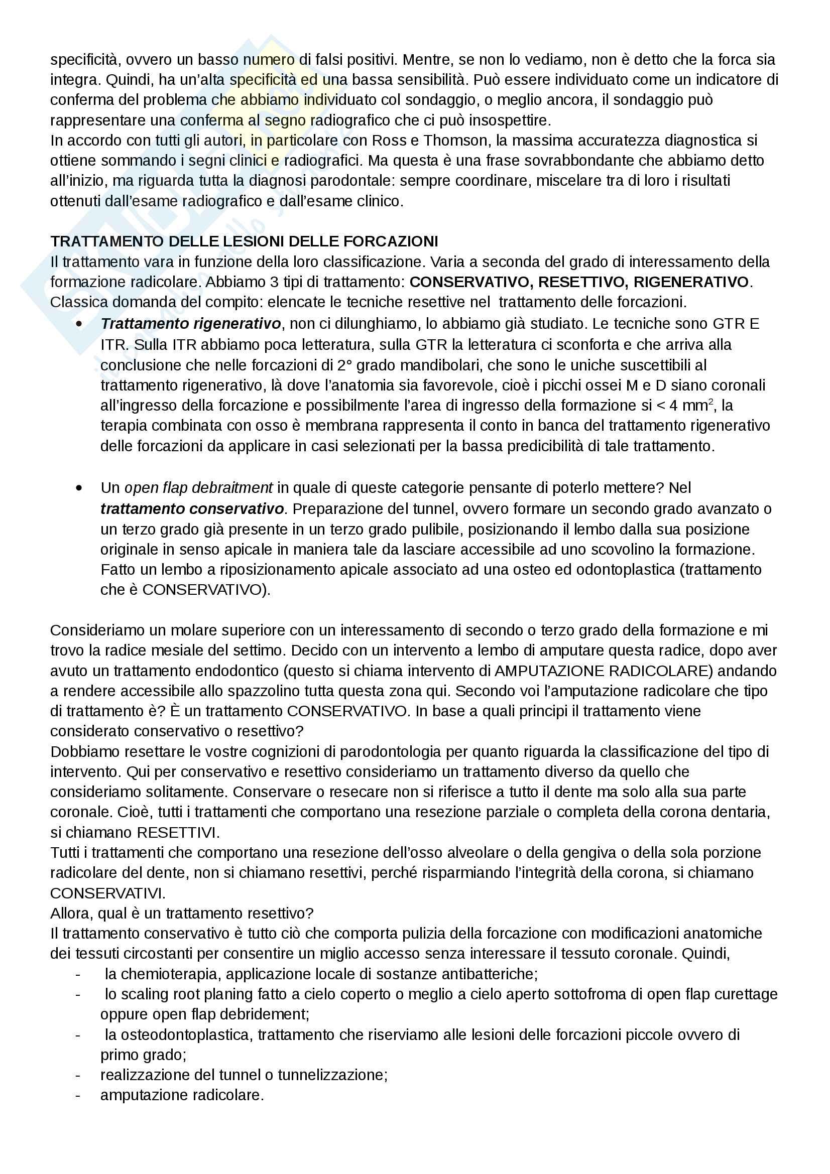 Lesioni delle forcazioni Pag. 2
