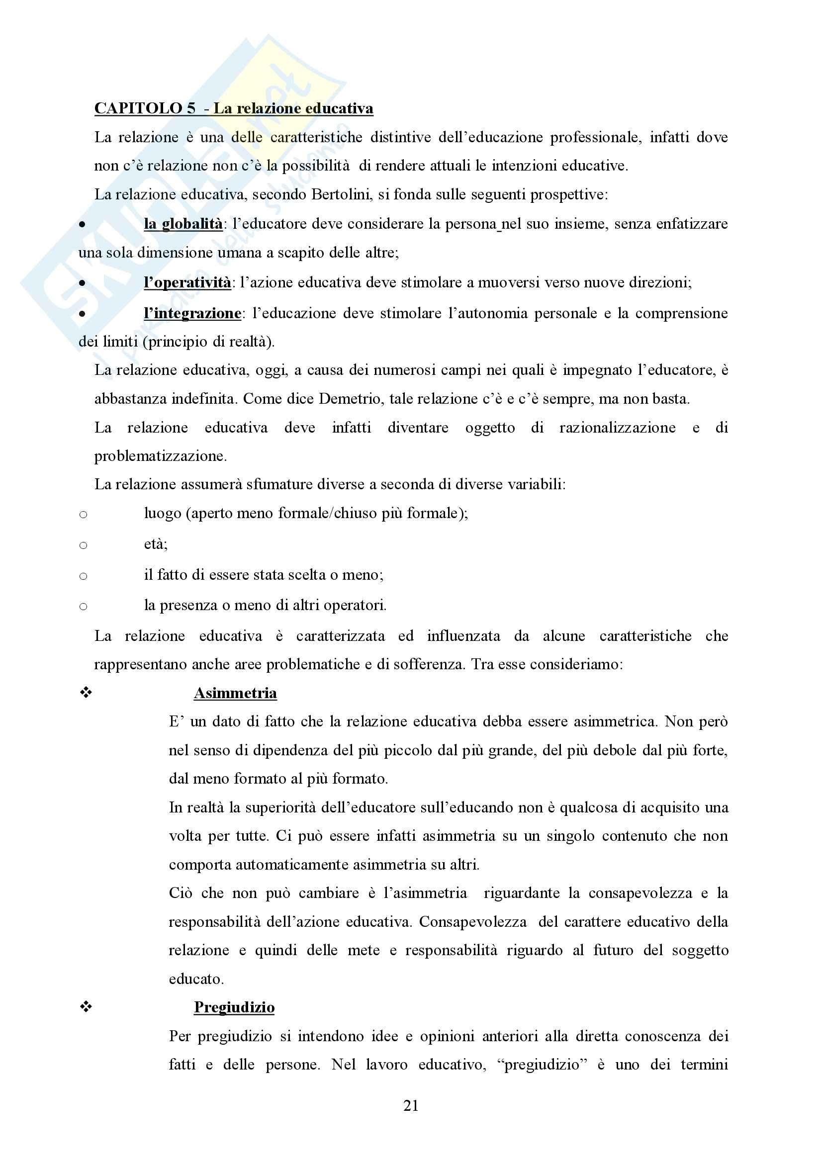 Pedagogia generale – Educatore Pag. 21